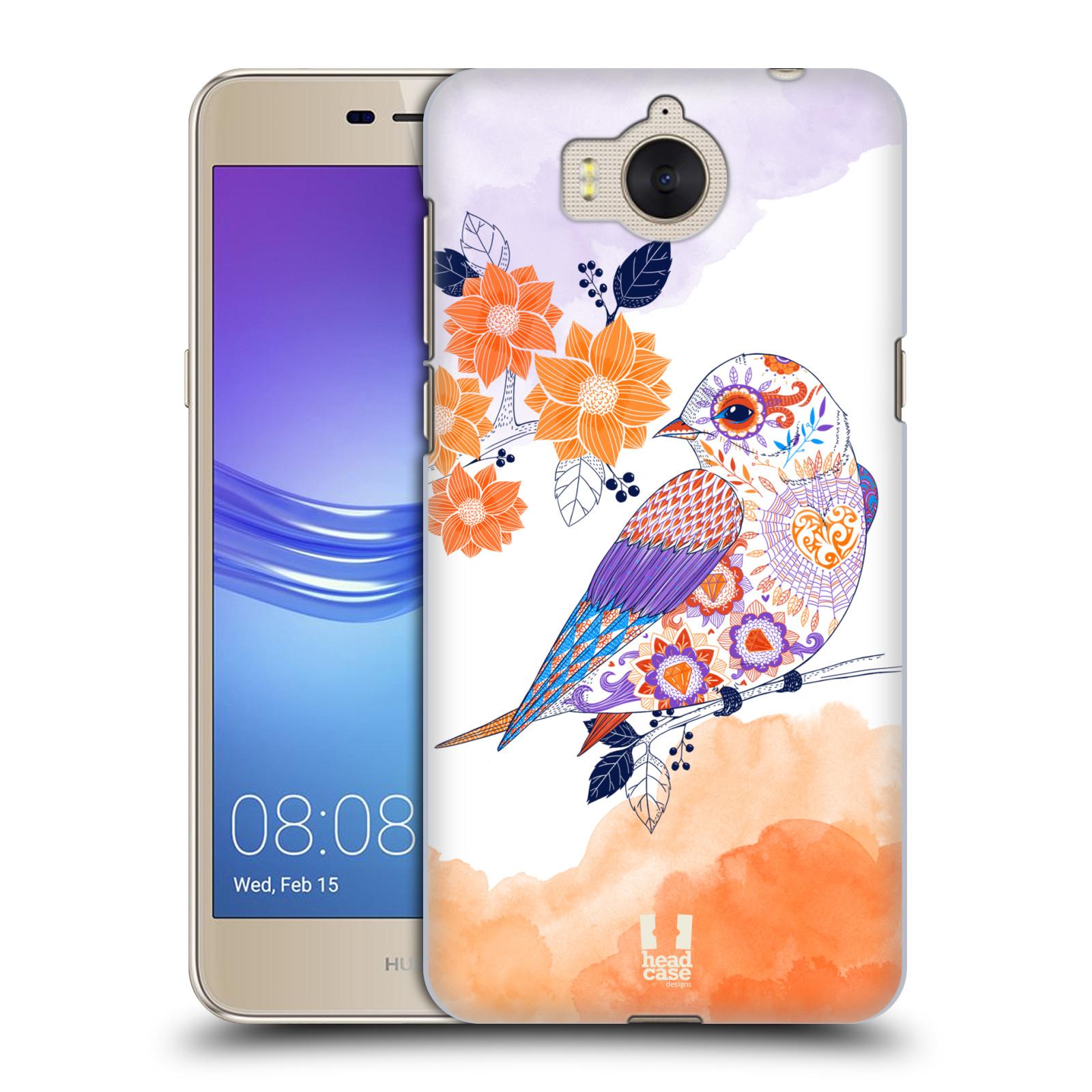 Plastové pouzdro na mobil Huawei Y6 2017 - Head Case - PTÁČEK TANGERINE