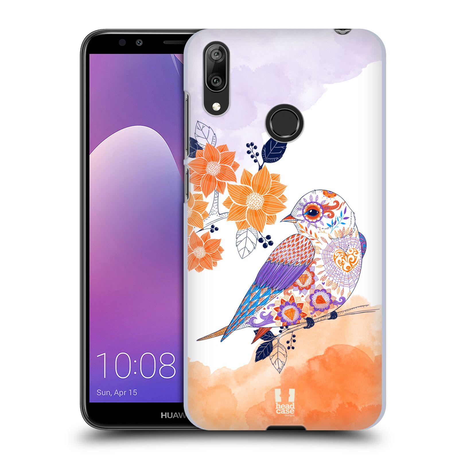 Plastové pouzdro na mobil Huawei Y7 (2019) - Head Case - PTÁČEK TANGERINE