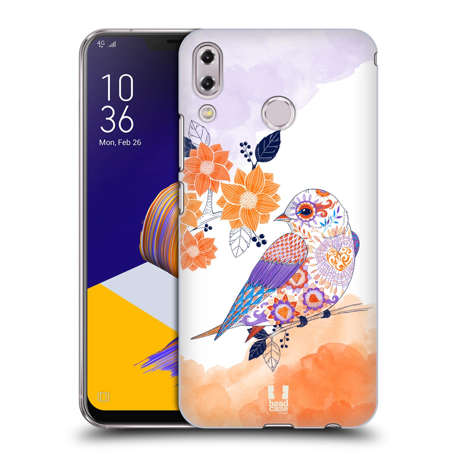 Plastové pouzdro na mobil Asus Zenfone 5z ZS620KL - Head Case - PTÁČEK TANGERINE