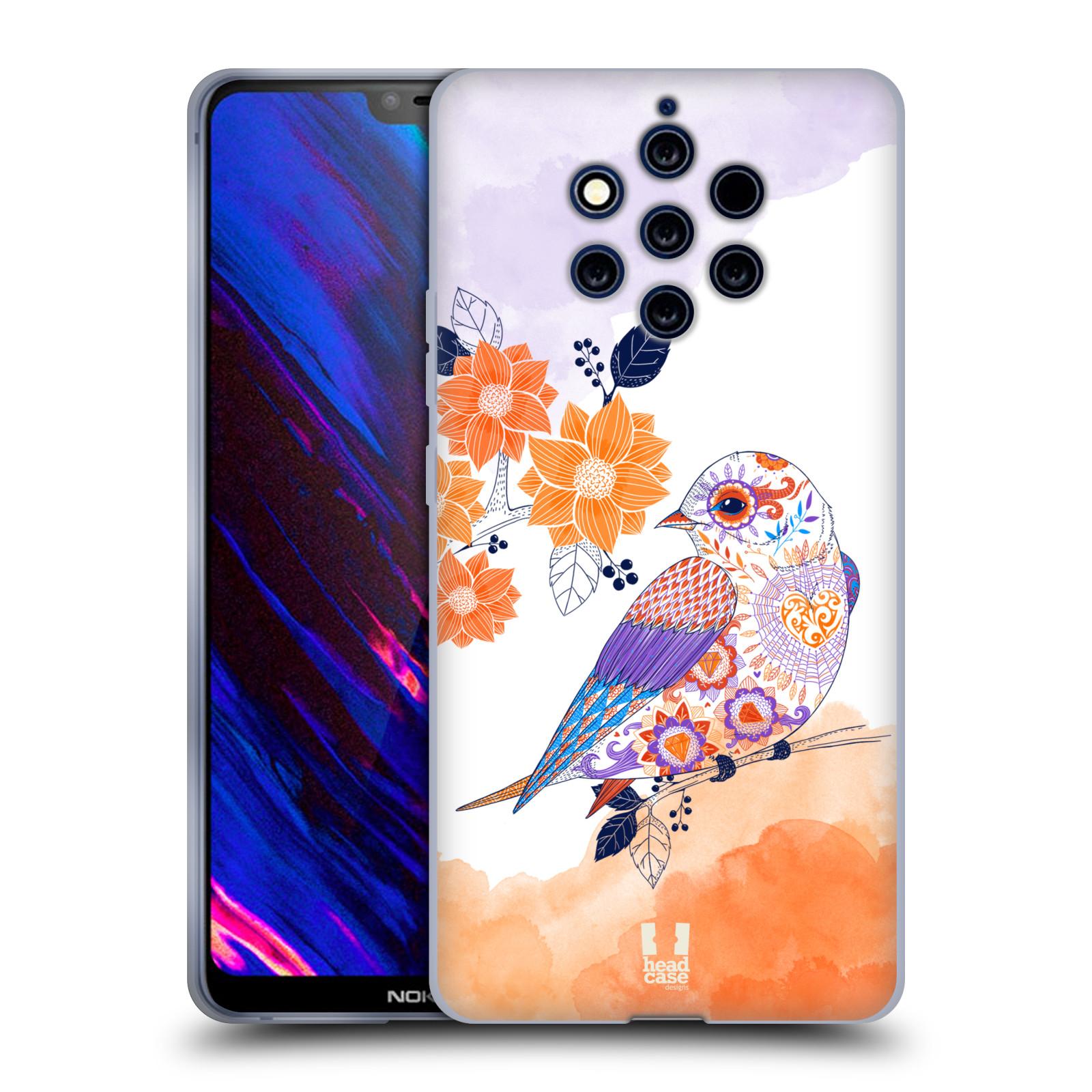 Silikonové pouzdro na mobil Nokia 9 PureView - Head Case - PTÁČEK TANGERINE