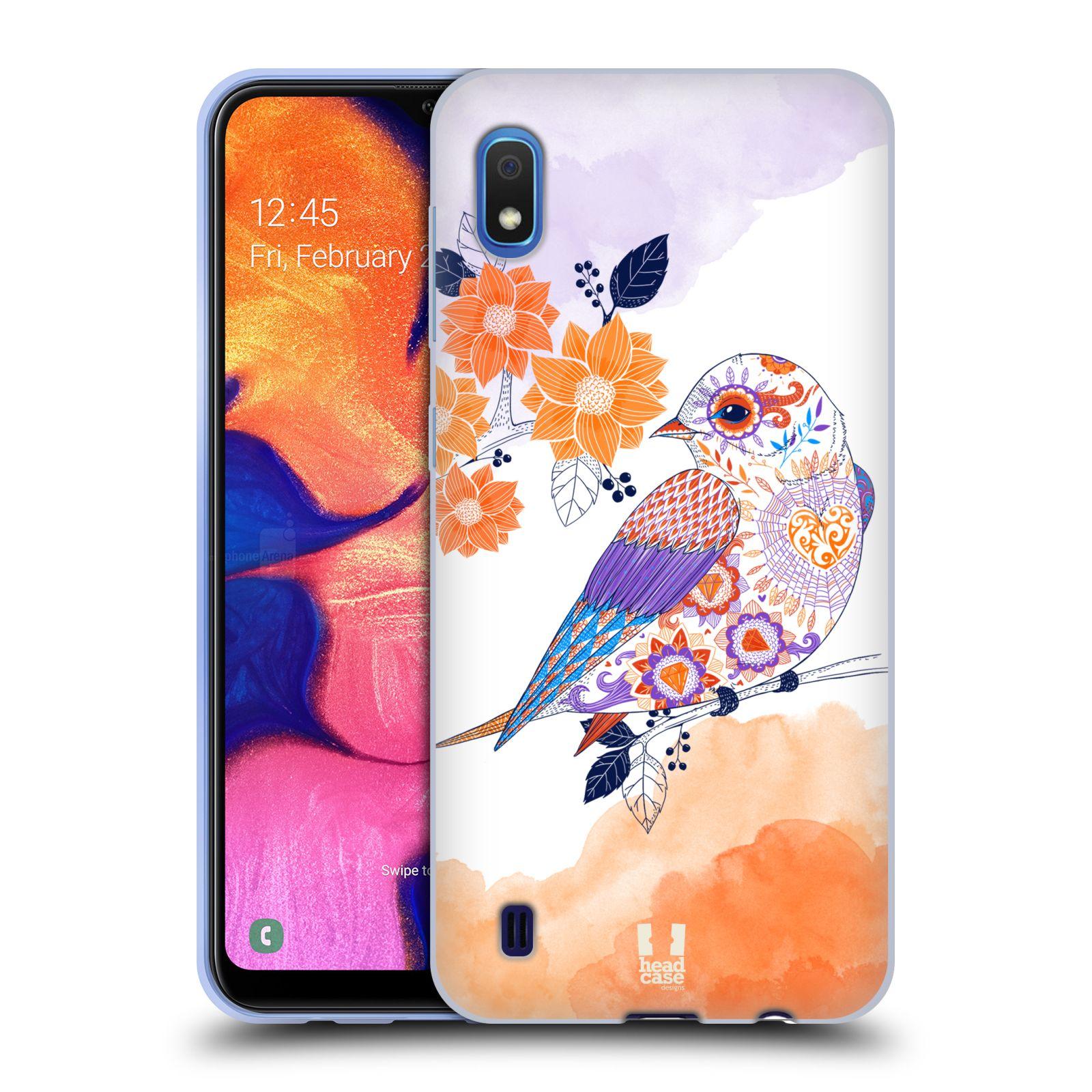 Silikonové pouzdro na mobil Samsung Galaxy A10 - Head Case - PTÁČEK TANGERINE