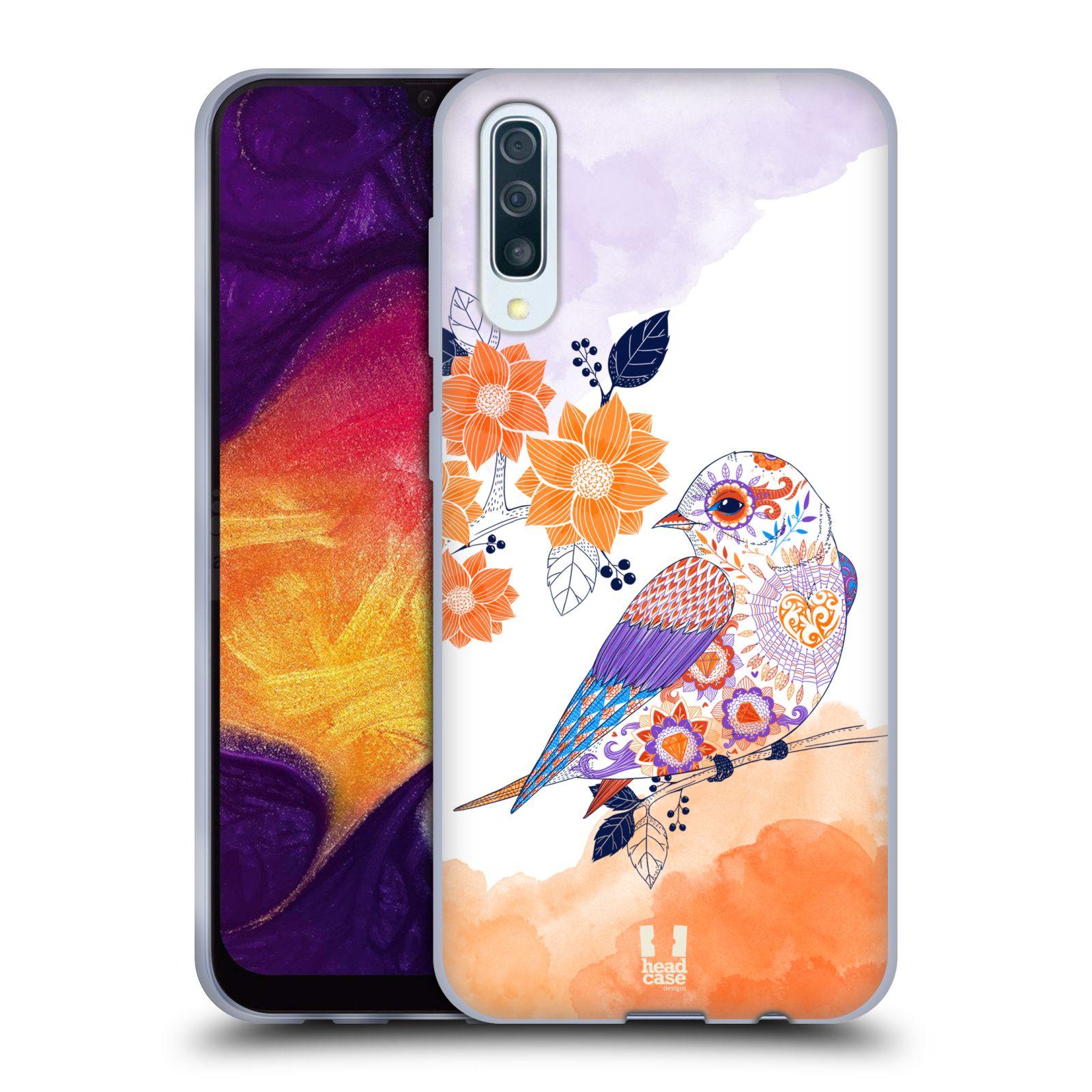 Silikonové pouzdro na mobil Samsung Galaxy A50 / A30s - Head Case - PTÁČEK TANGERINE