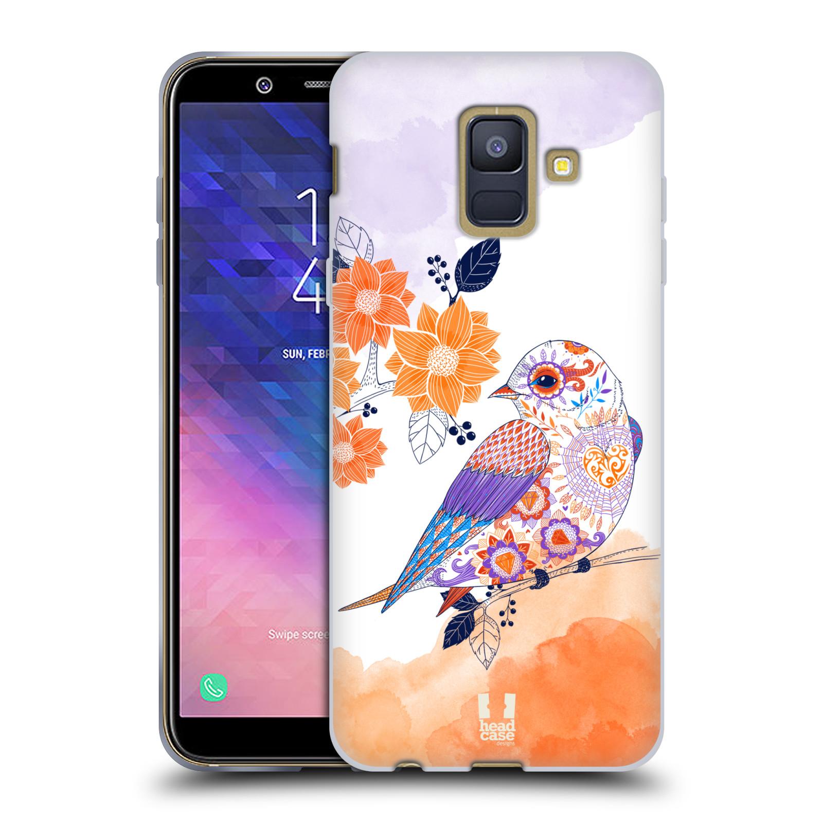 Silikonové pouzdro na mobil Samsung Galaxy A6 (2018) - Head Case - PTÁČEK TANGERINE