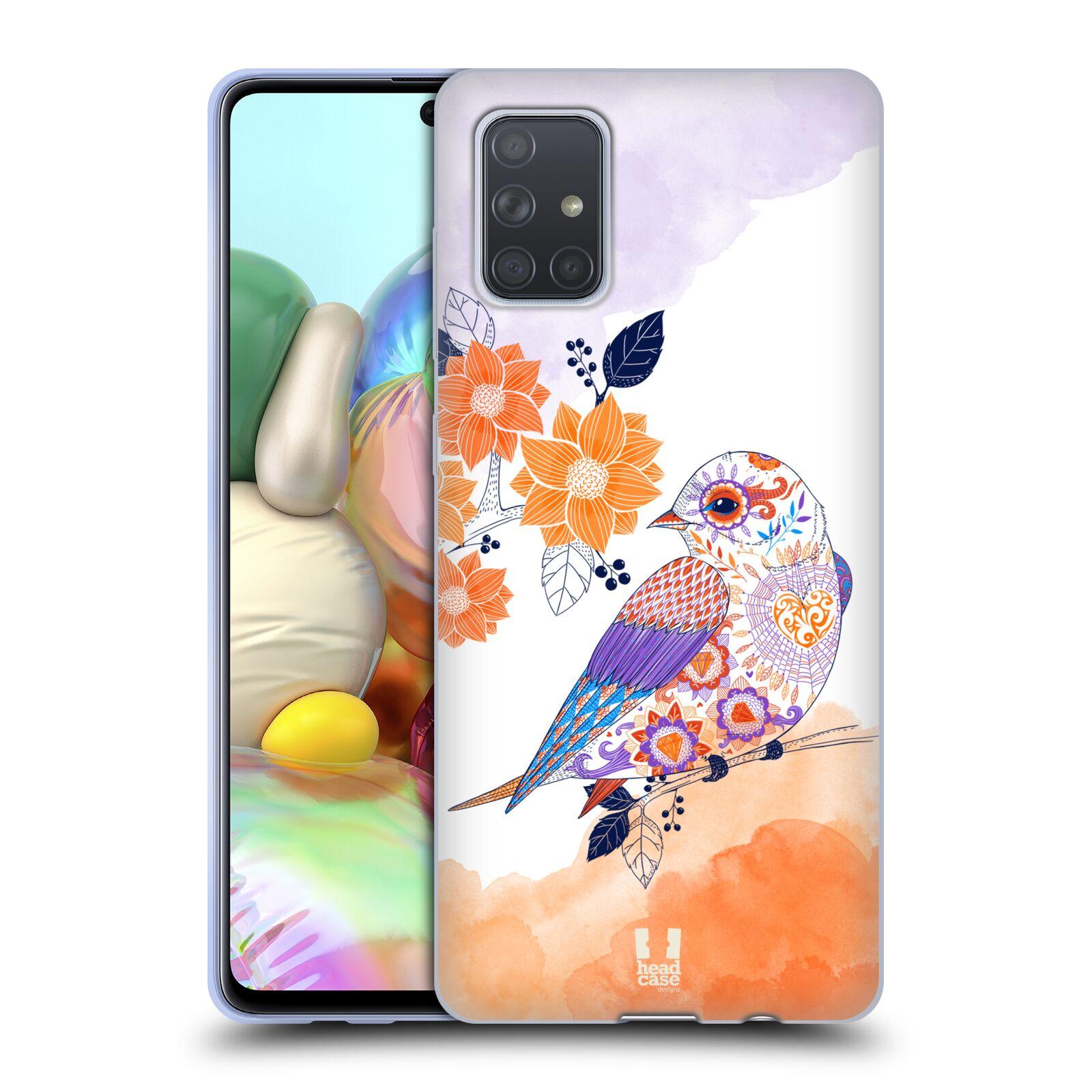 Silikonové pouzdro na mobil Samsung Galaxy A71 - Head Case - PTÁČEK TANGERINE