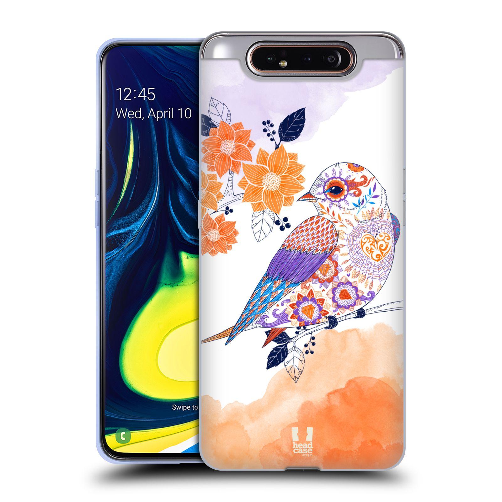Silikonové pouzdro na mobil Samsung Galaxy A80 - Head Case - PTÁČEK TANGERINE