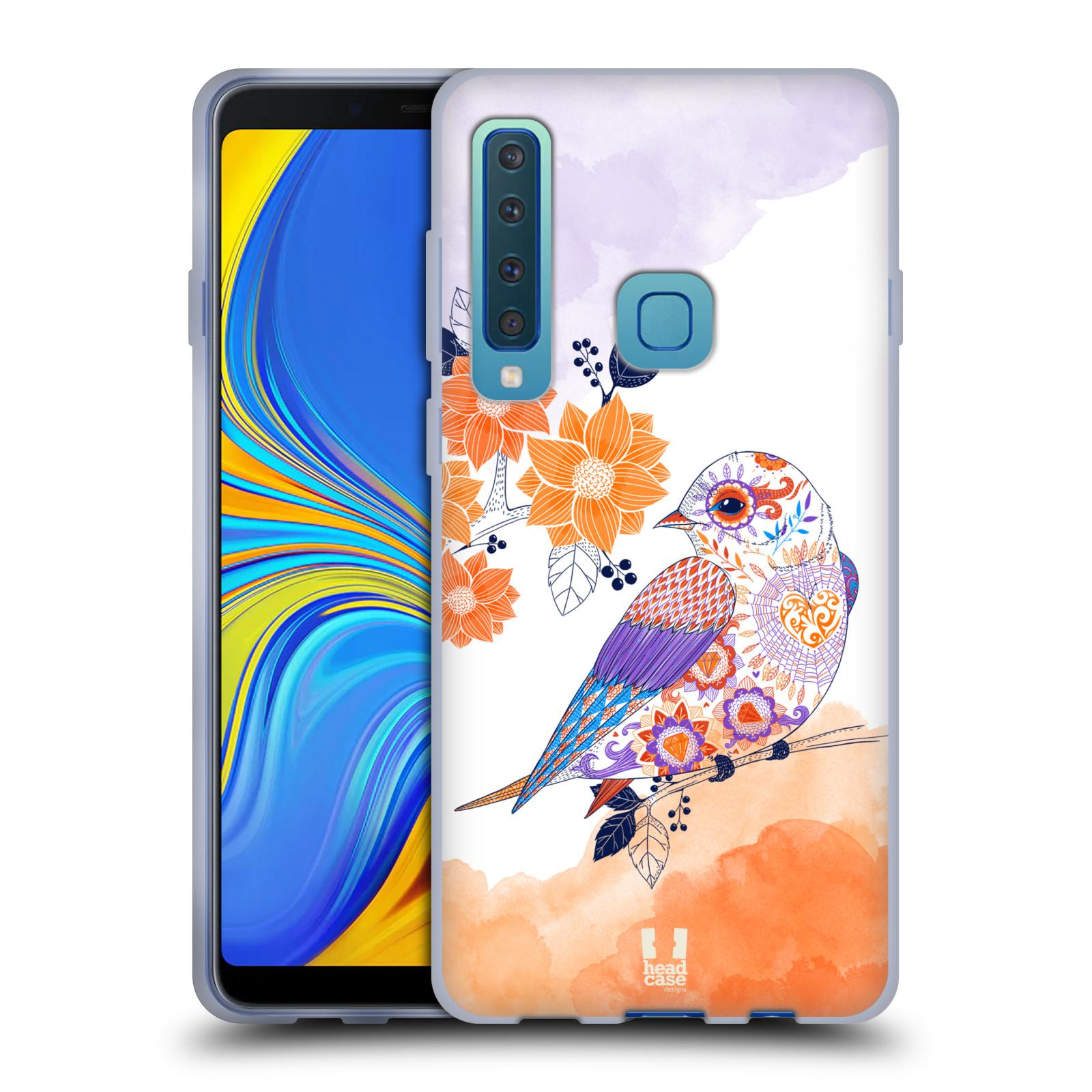 Silikonové pouzdro na mobil Samsung Galaxy A9 (2018) - Head Case - PTÁČEK TANGERINE