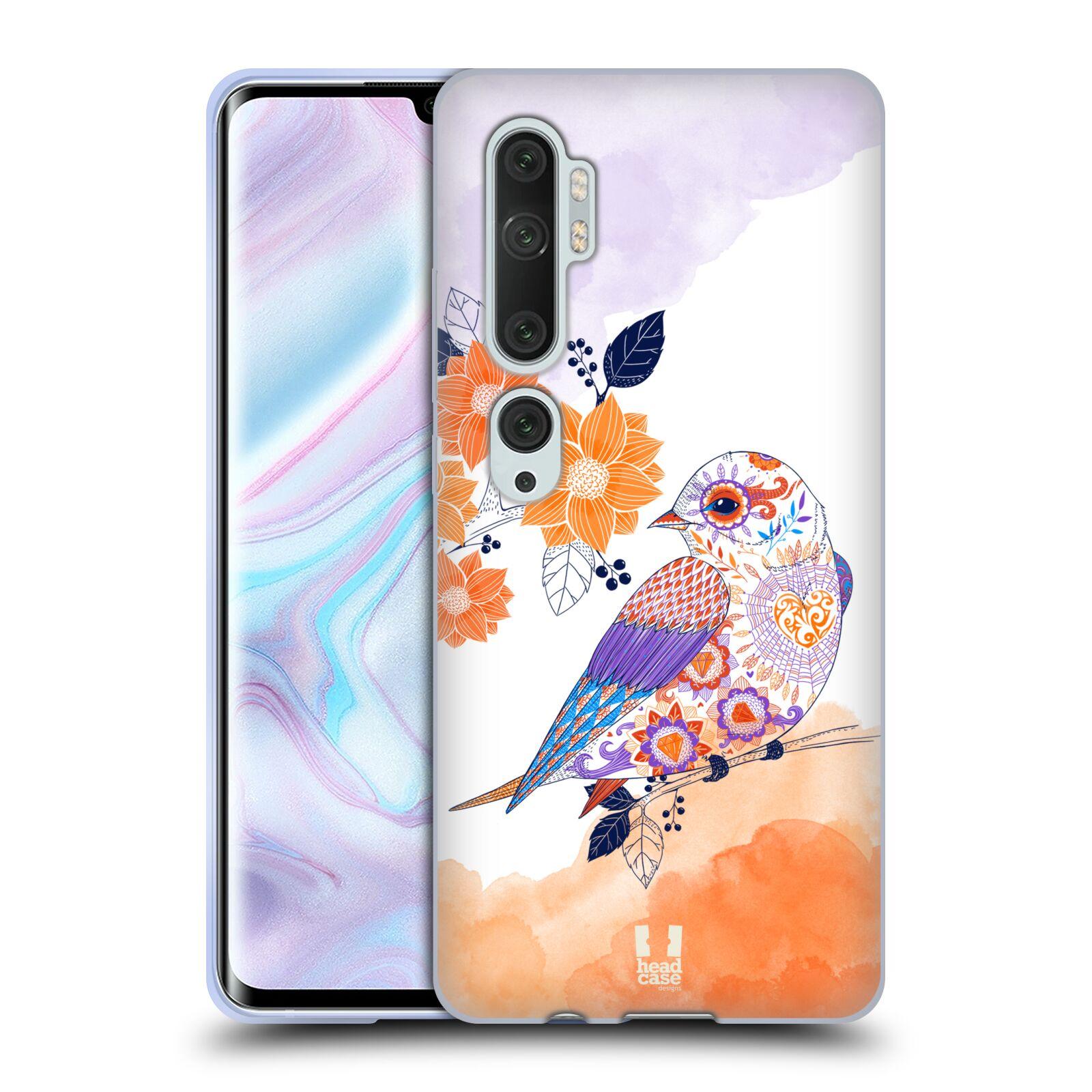 Silikonové pouzdro na mobil Xiaomi Mi Note 10 / 10 Pro - Head Case - PTÁČEK TANGERINE