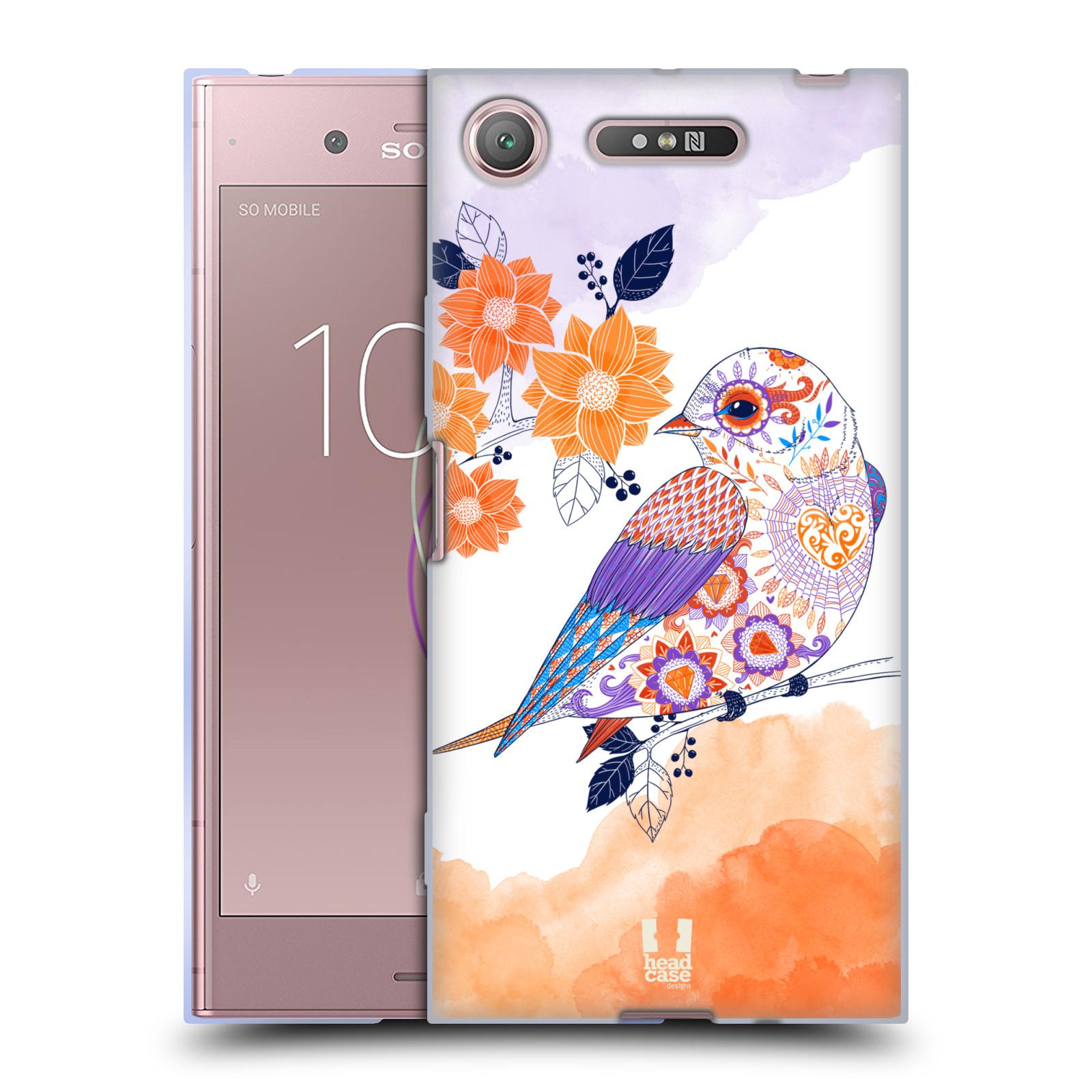 Silikonové pouzdro na mobil Sony Xperia XZ1 - Head Case - PTÁČEK TANGERINE