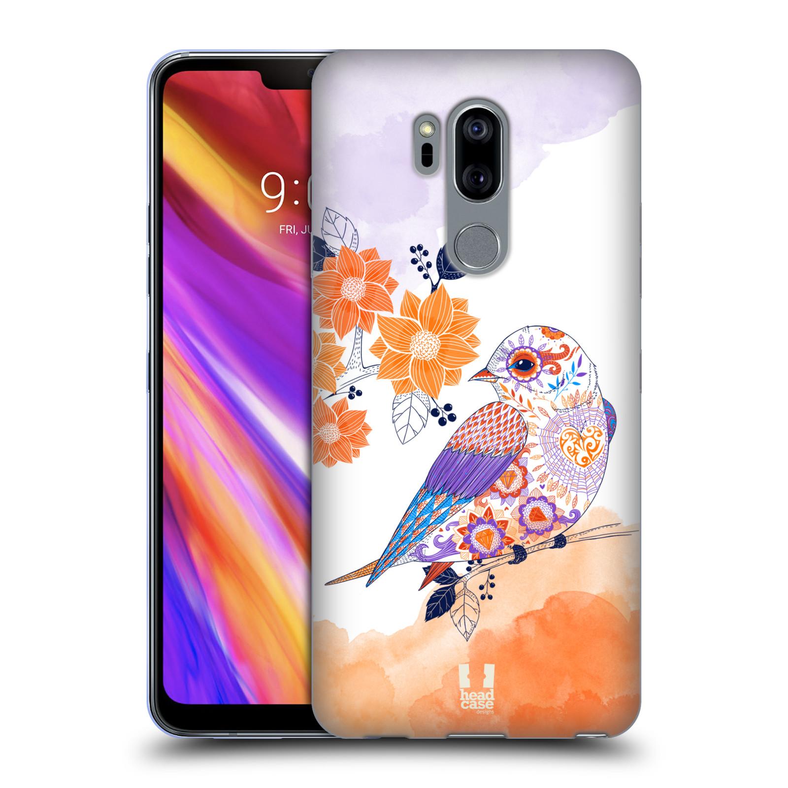 Silikonové pouzdro na mobil LG G7 ThinQ - Head Case - PTÁČEK TANGERINE