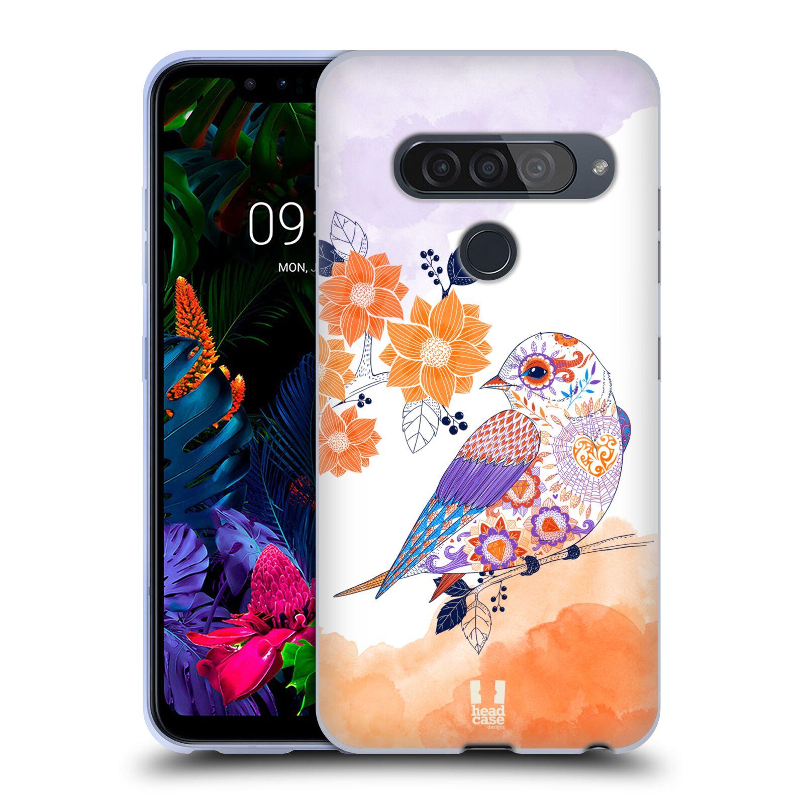 Silikonové pouzdro na mobil LG G8s ThinQ - Head Case - PTÁČEK TANGERINE