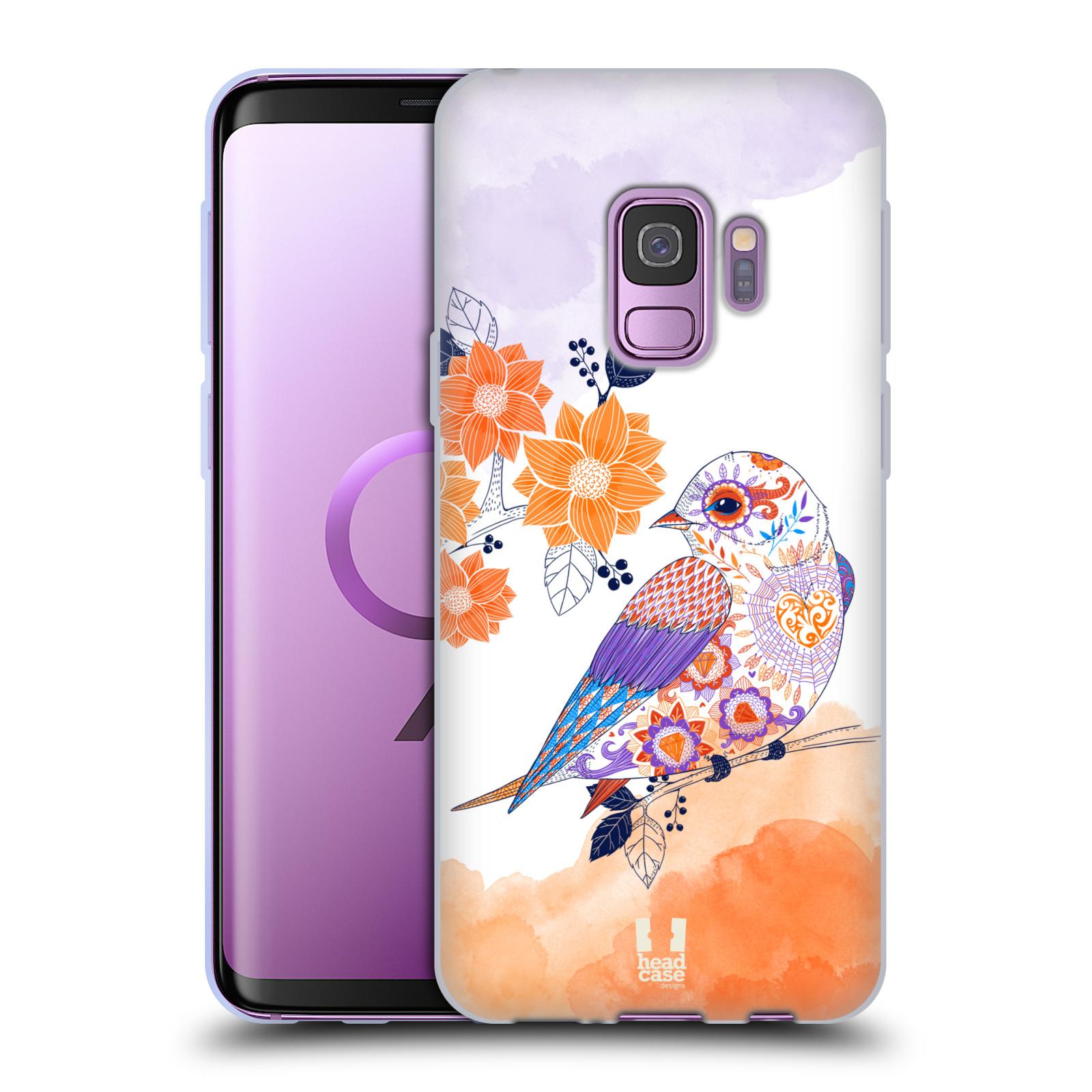Silikonové pouzdro na mobil Samsung Galaxy S9 - Head Case - PTÁČEK TANGERINE