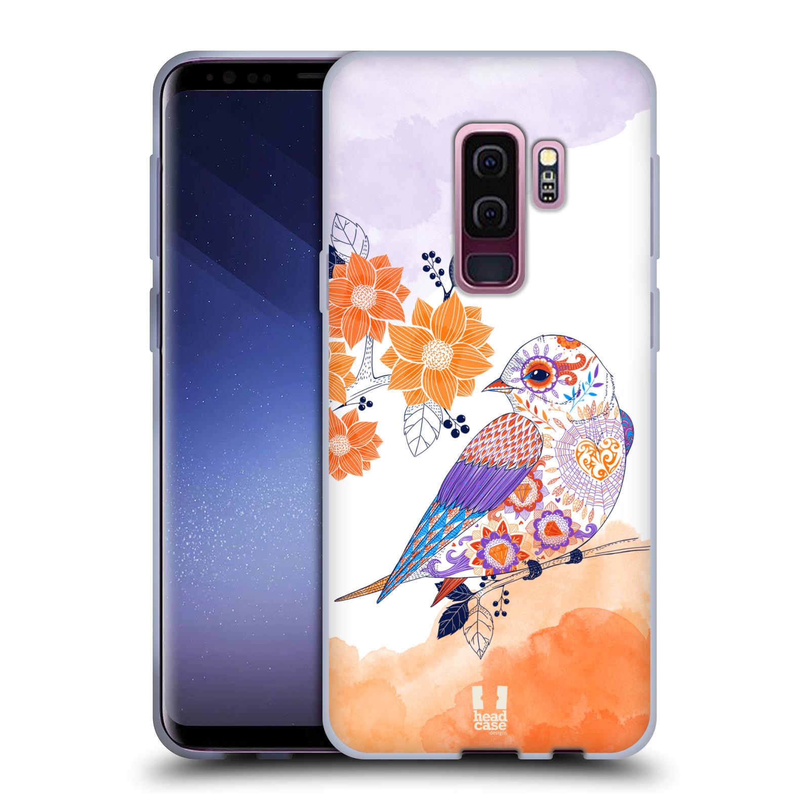 Silikonové pouzdro na mobil Samsung Galaxy S9 Plus - Head Case - PTÁČEK TANGERINE