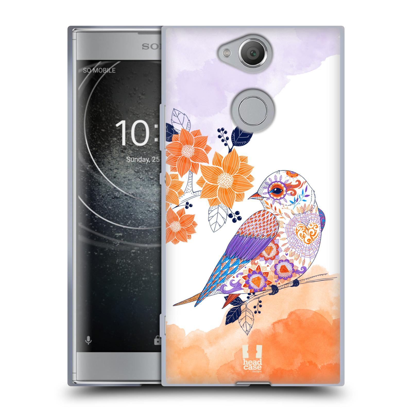 Silikonové pouzdro na mobil Sony Xperia XA2 - Head Case - PTÁČEK TANGERINE