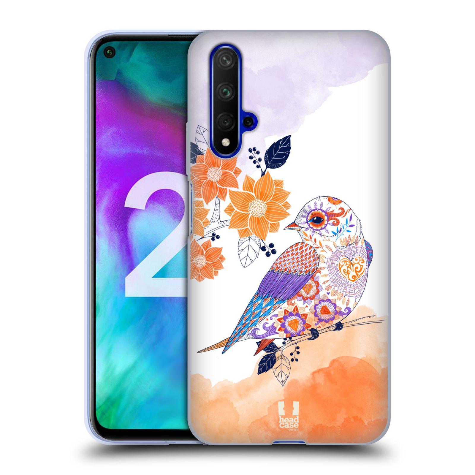 Silikonové pouzdro na mobil Honor 20 - Head Case - PTÁČEK TANGERINE