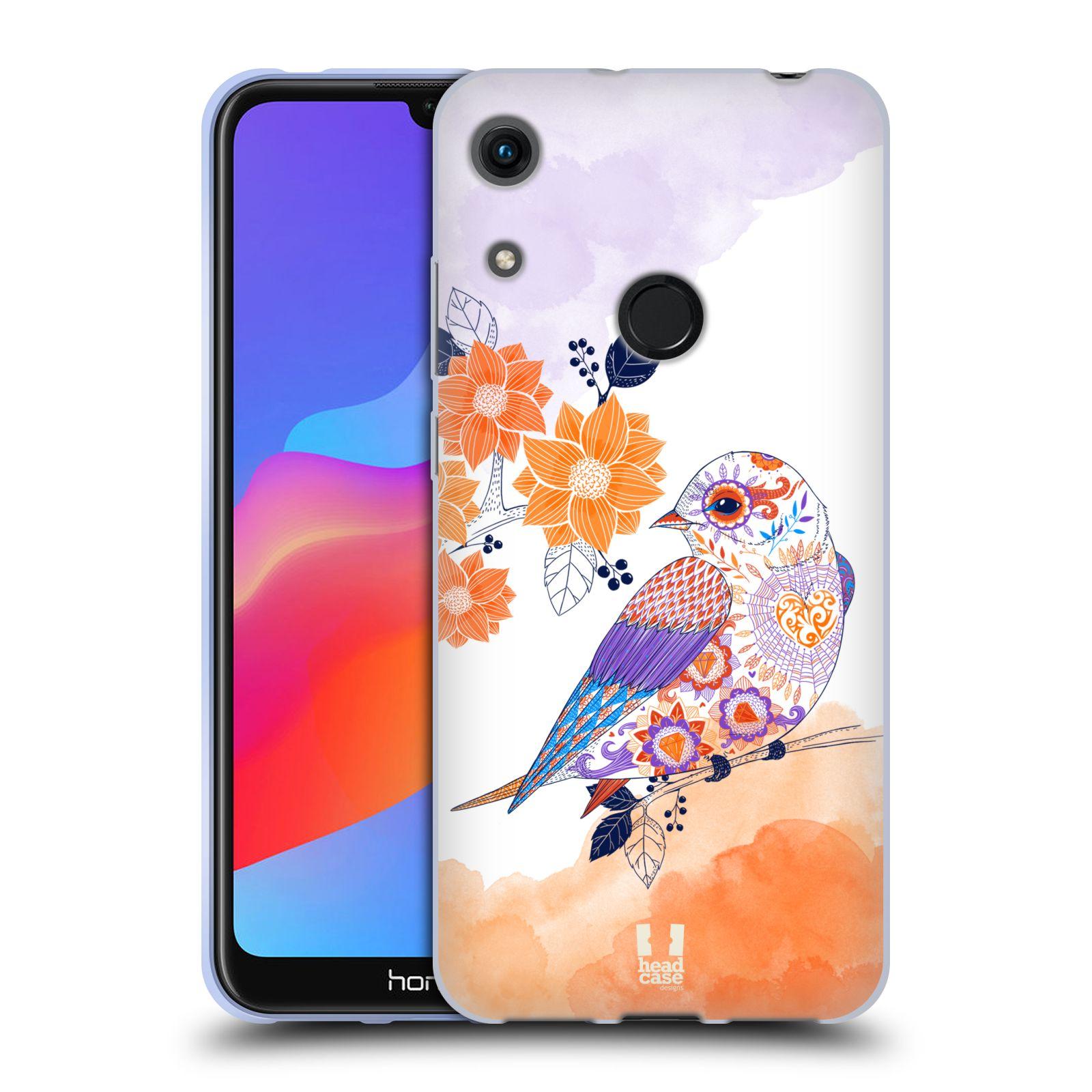 Silikonové pouzdro na mobil Honor 8A - Head Case - PTÁČEK TANGERINE