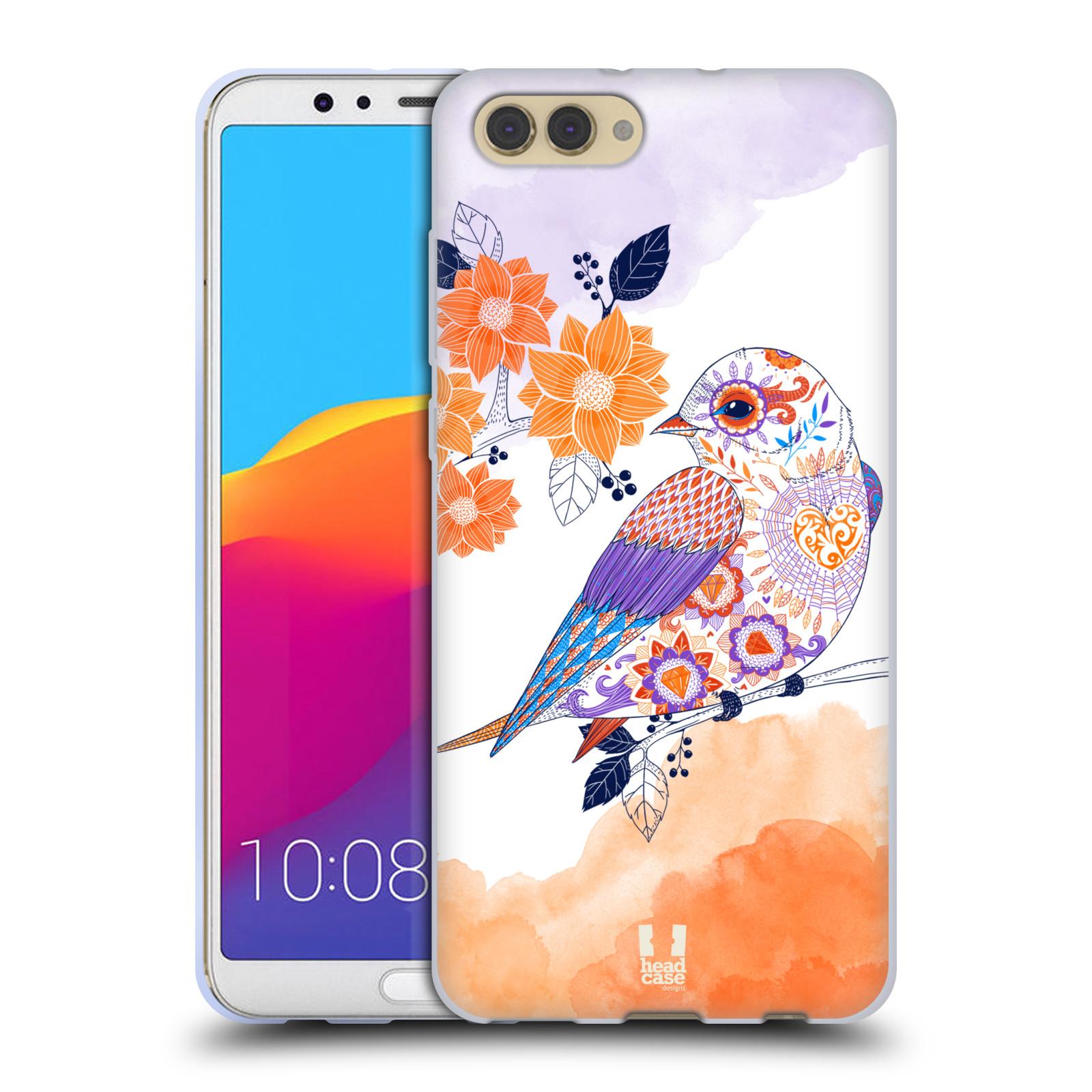 Silikonové pouzdro na mobil Honor View 10 - Head Case - PTÁČEK TANGERINE