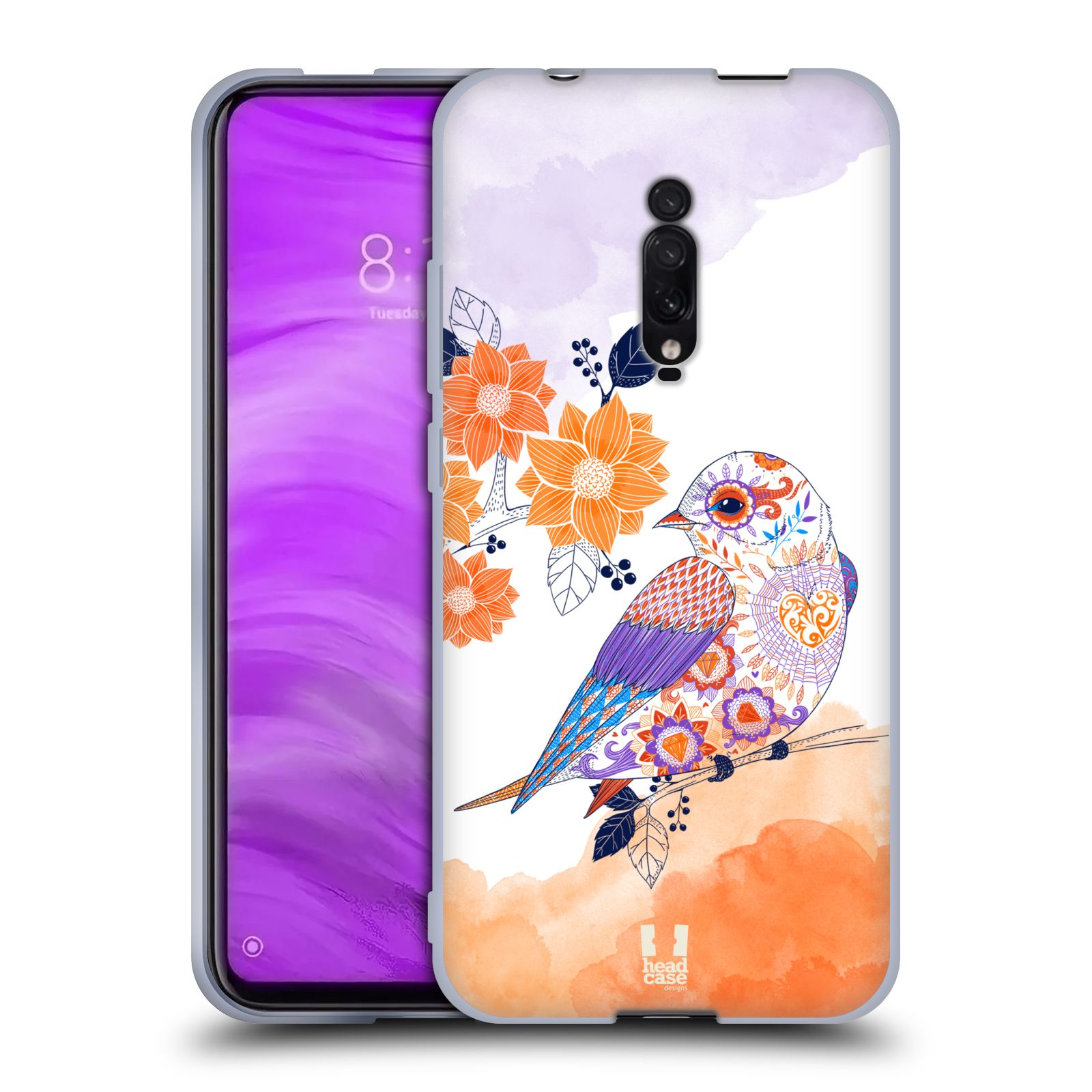 Silikonové pouzdro na mobil Xiaomi Mi 9T - Head Case - PTÁČEK TANGERINE
