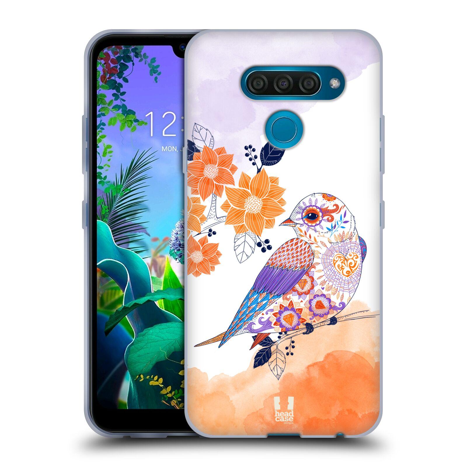 Silikonové pouzdro na mobil LG Q60 - Head Case - PTÁČEK TANGERINE