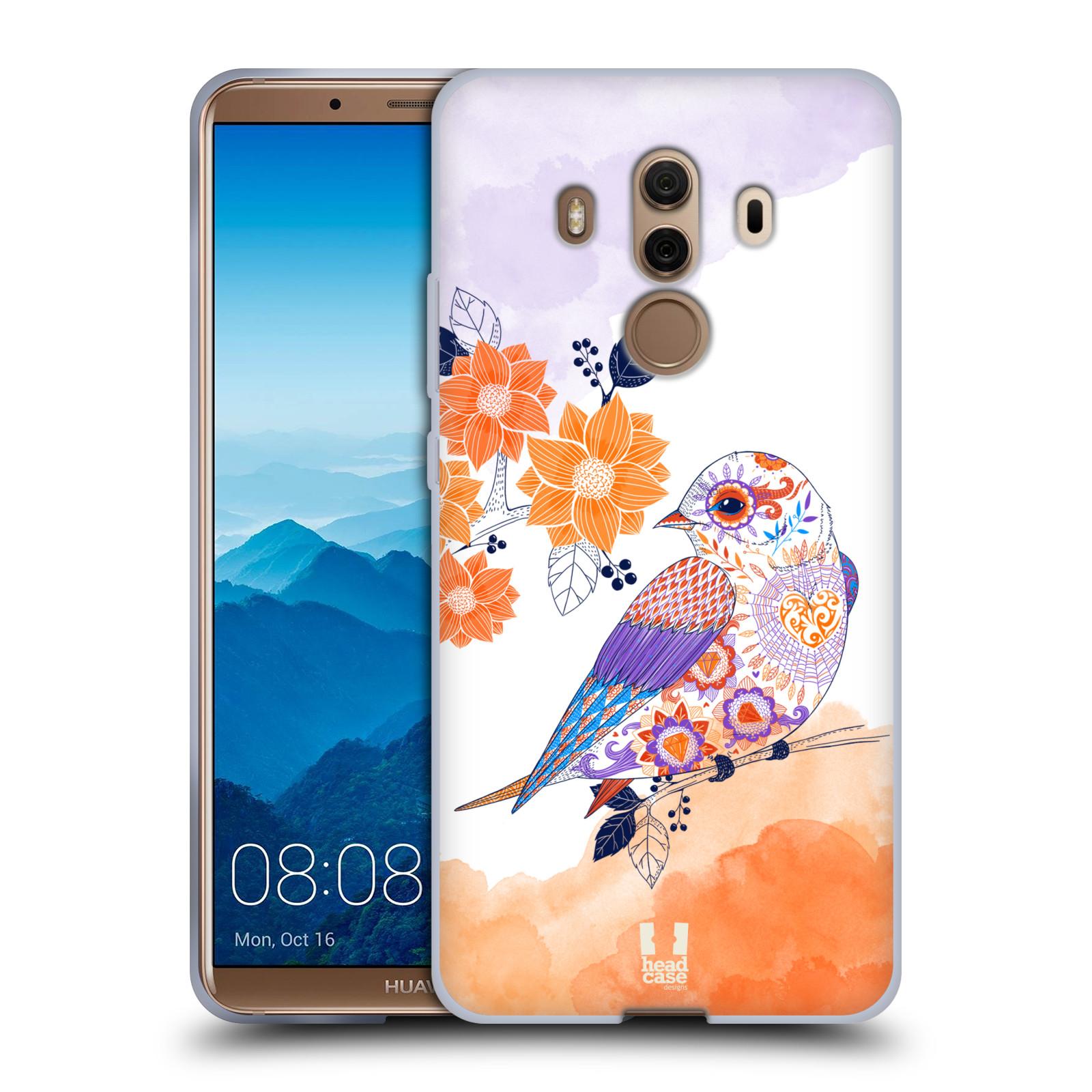 Silikonové pouzdro na mobil Huawei Mate 10 Pro - Head Case - PTÁČEK TANGERINE