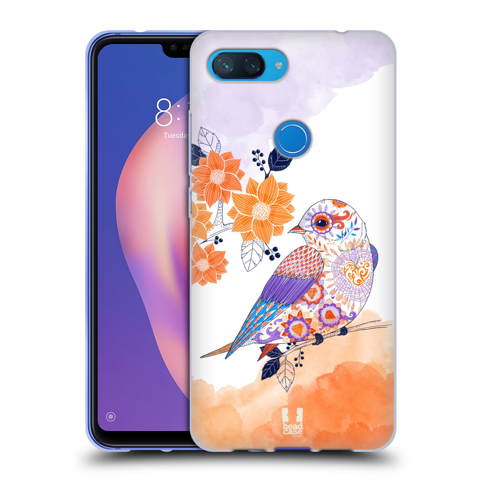 Silikonové pouzdro na mobil Xiaomi Mi 8 Lite - Head Case - PTÁČEK TANGERINE
