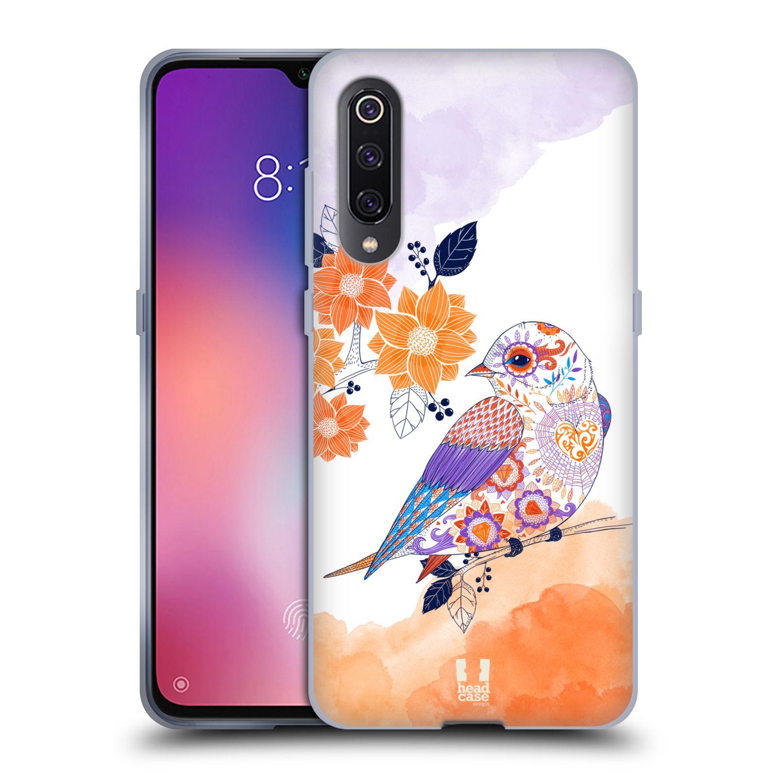 Silikonové pouzdro na mobil Xiaomi Mi 9 - Head Case - PTÁČEK TANGERINE