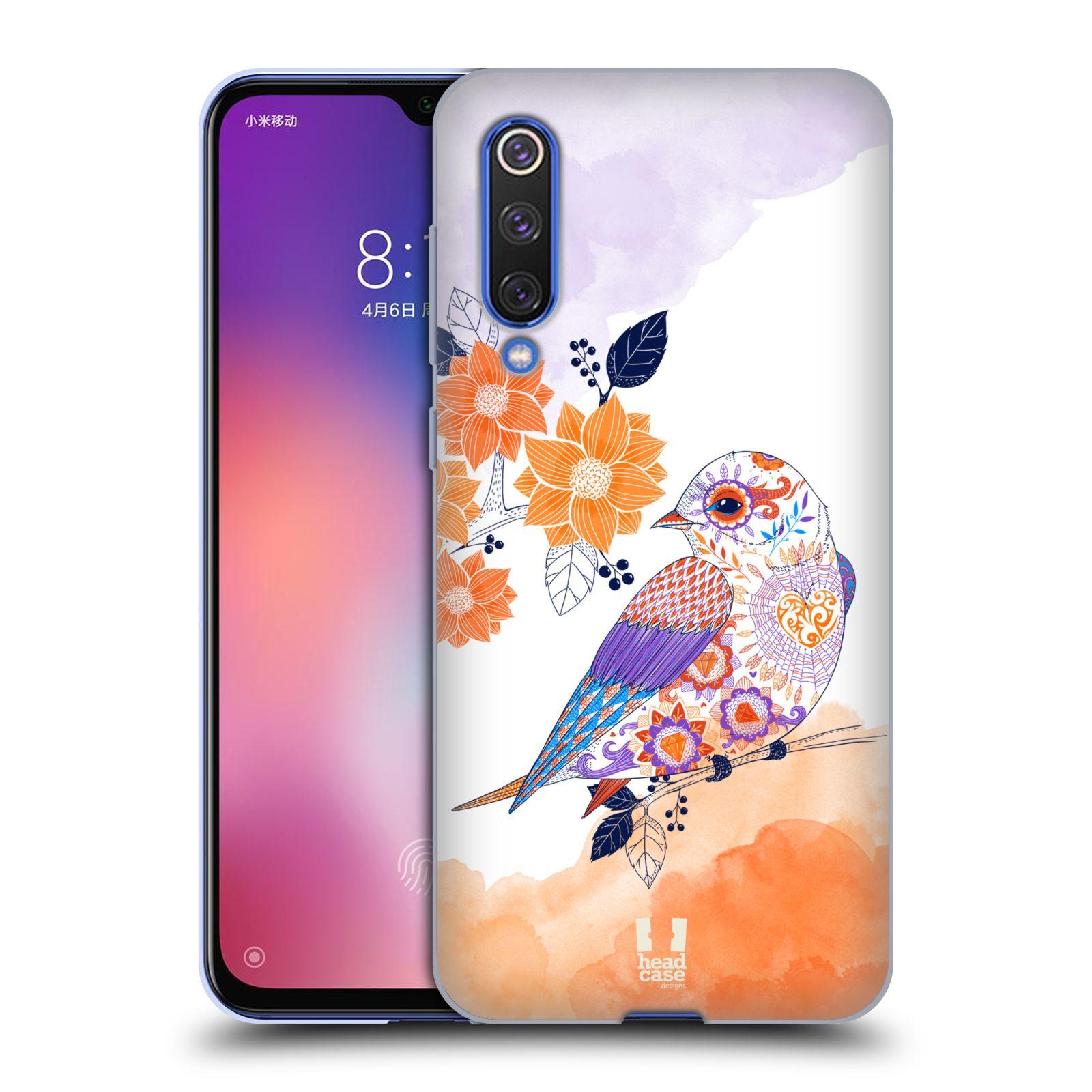 Silikonové pouzdro na mobil Xiaomi Mi 9 SE - Head Case - PTÁČEK TANGERINE
