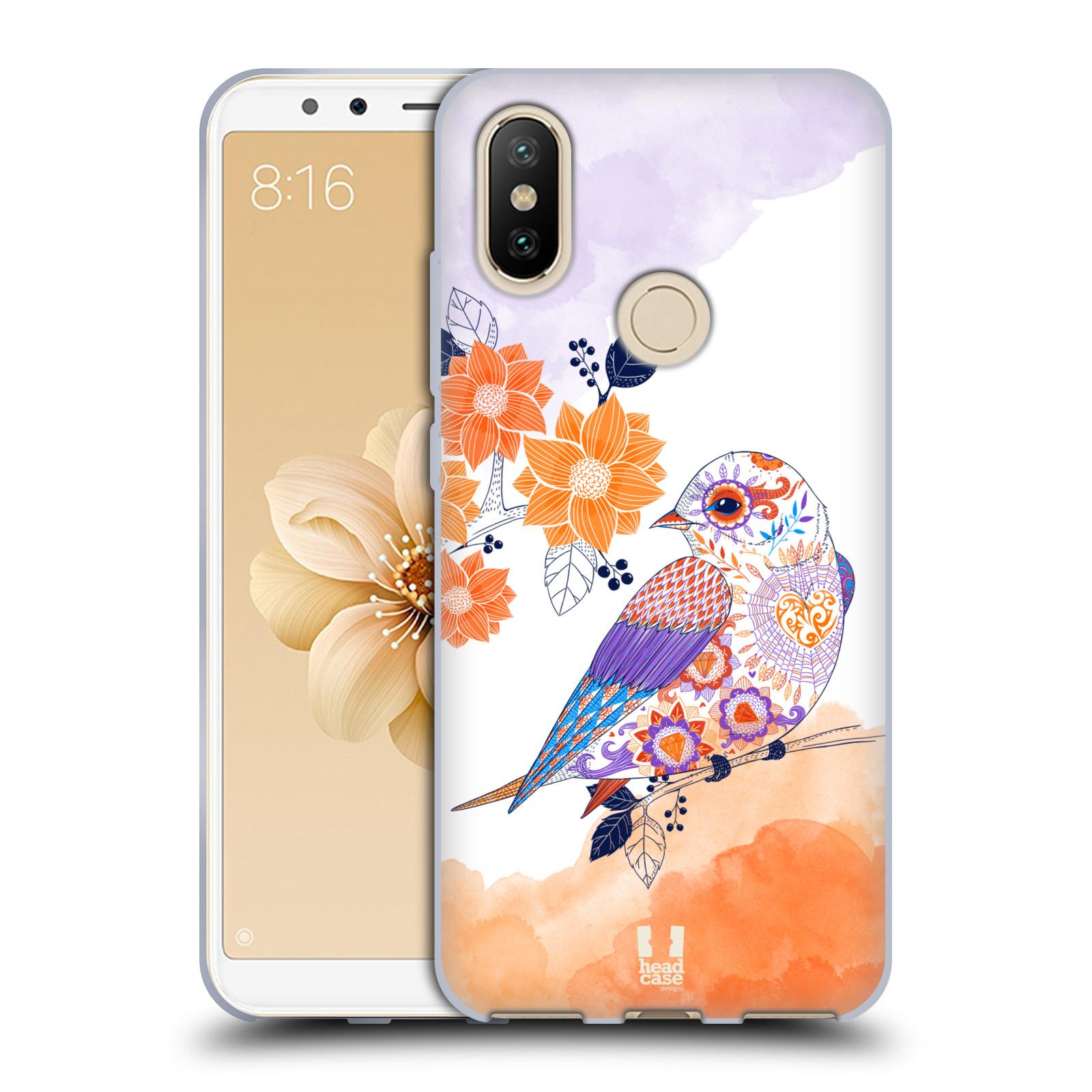Silikonové pouzdro na mobil Xiaomi Mi A2 - Head Case - PTÁČEK TANGERINE