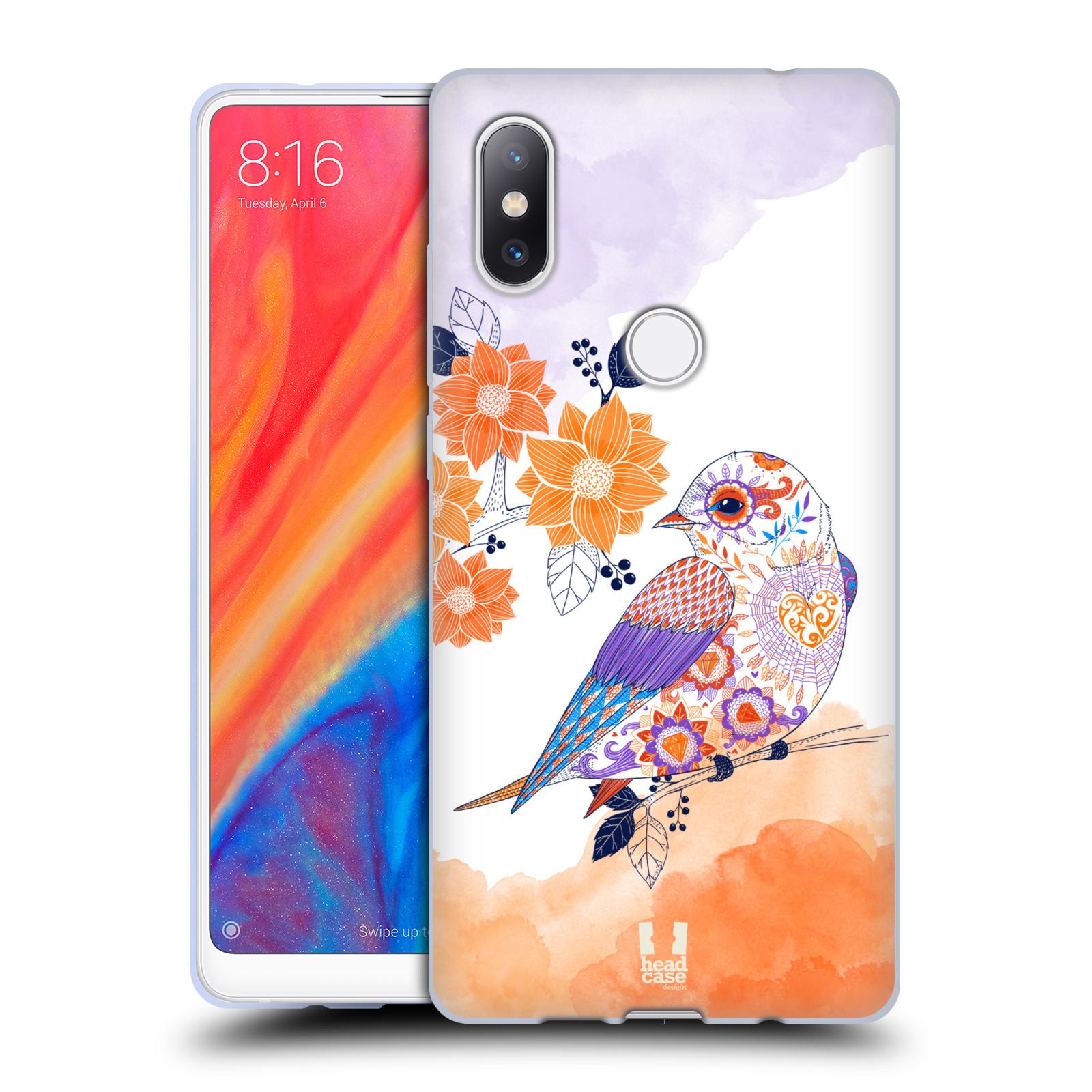 Silikonové pouzdro na mobil Xiaomi Mi Mix 2S - Head Case - PTÁČEK TANGERINE