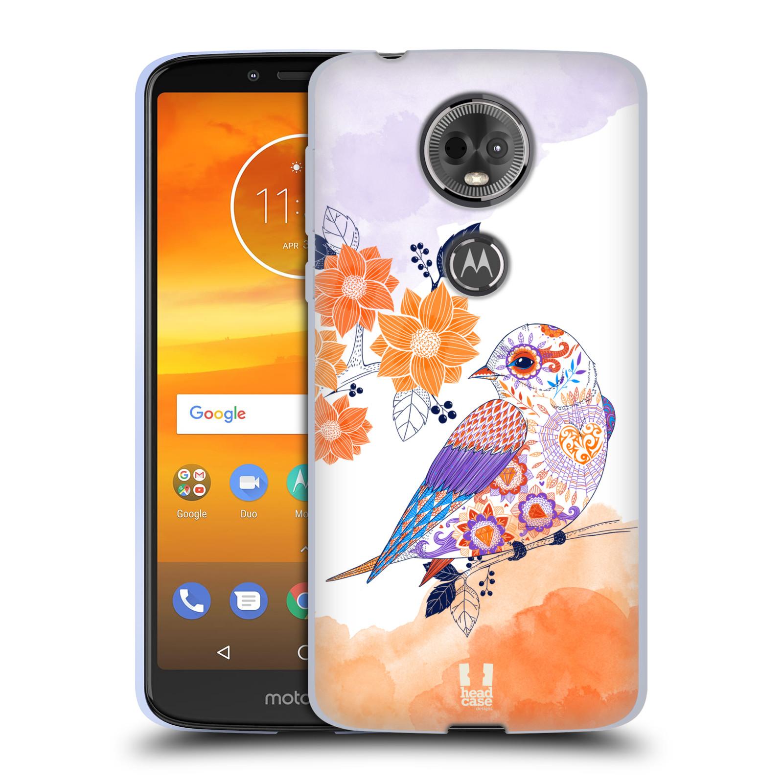 Silikonové pouzdro na mobil Motorola Moto E5 Plus - Head Case - PTÁČEK TANGERINE