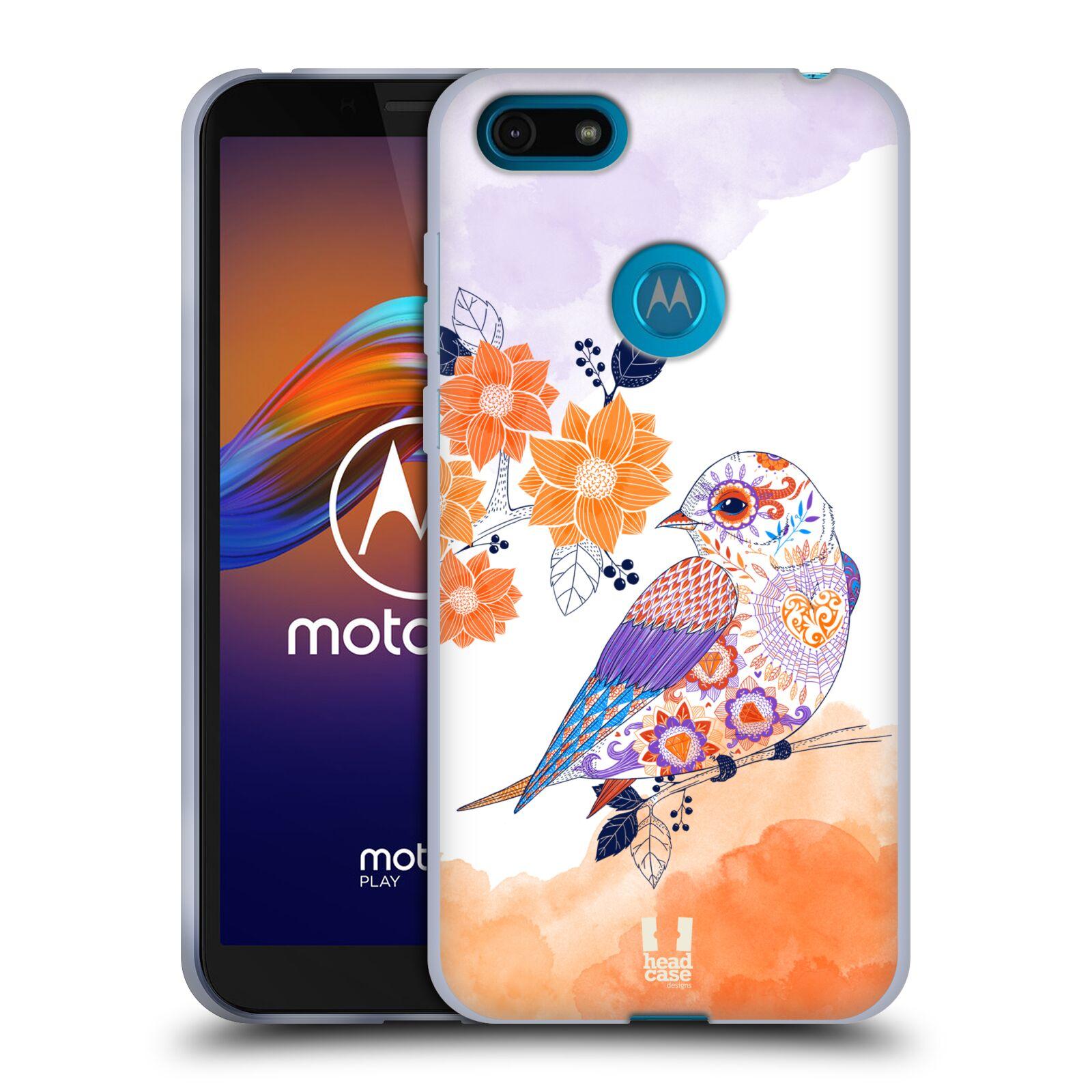 Silikonové pouzdro na mobil Motorola Moto E6 Play - Head Case - PTÁČEK TANGERINE