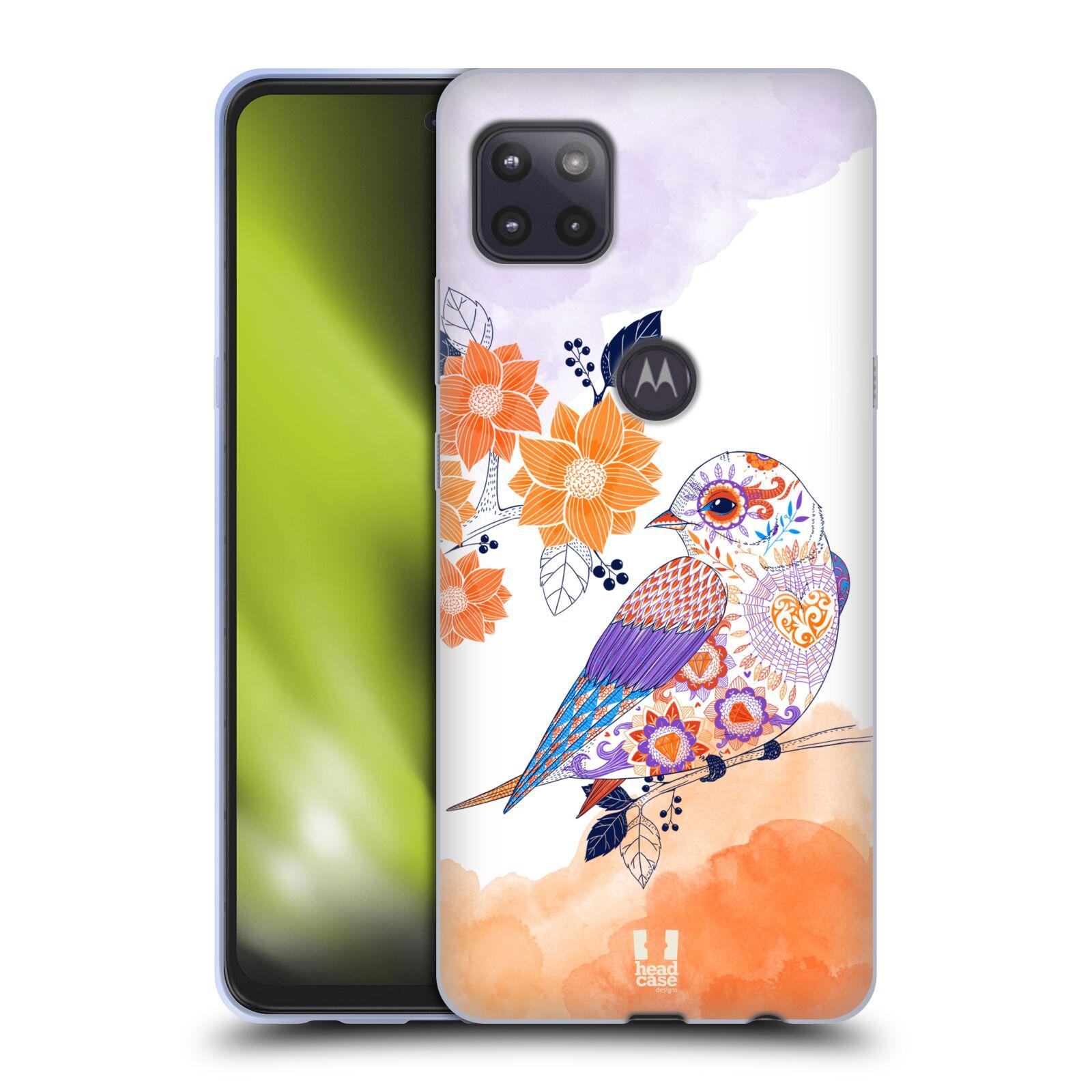 Silikonové pouzdro na mobil Motorola Moto G 5G - Head Case - PTÁČEK TANGERINE