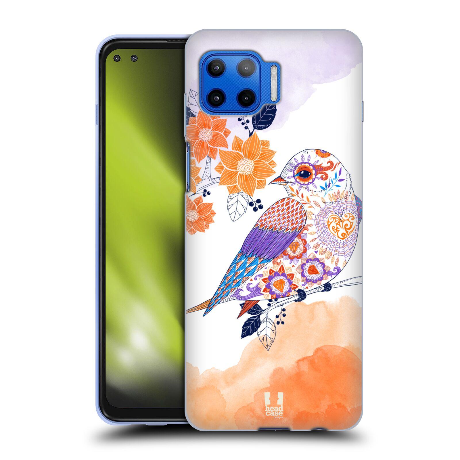 Silikonové pouzdro na mobil Motorola Moto G 5G Plus - Head Case - PTÁČEK TANGERINE