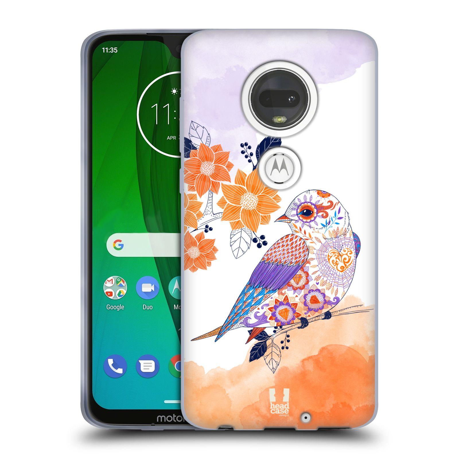 Silikonové pouzdro na mobil Motorola Moto G7 - Head Case - PTÁČEK TANGERINE
