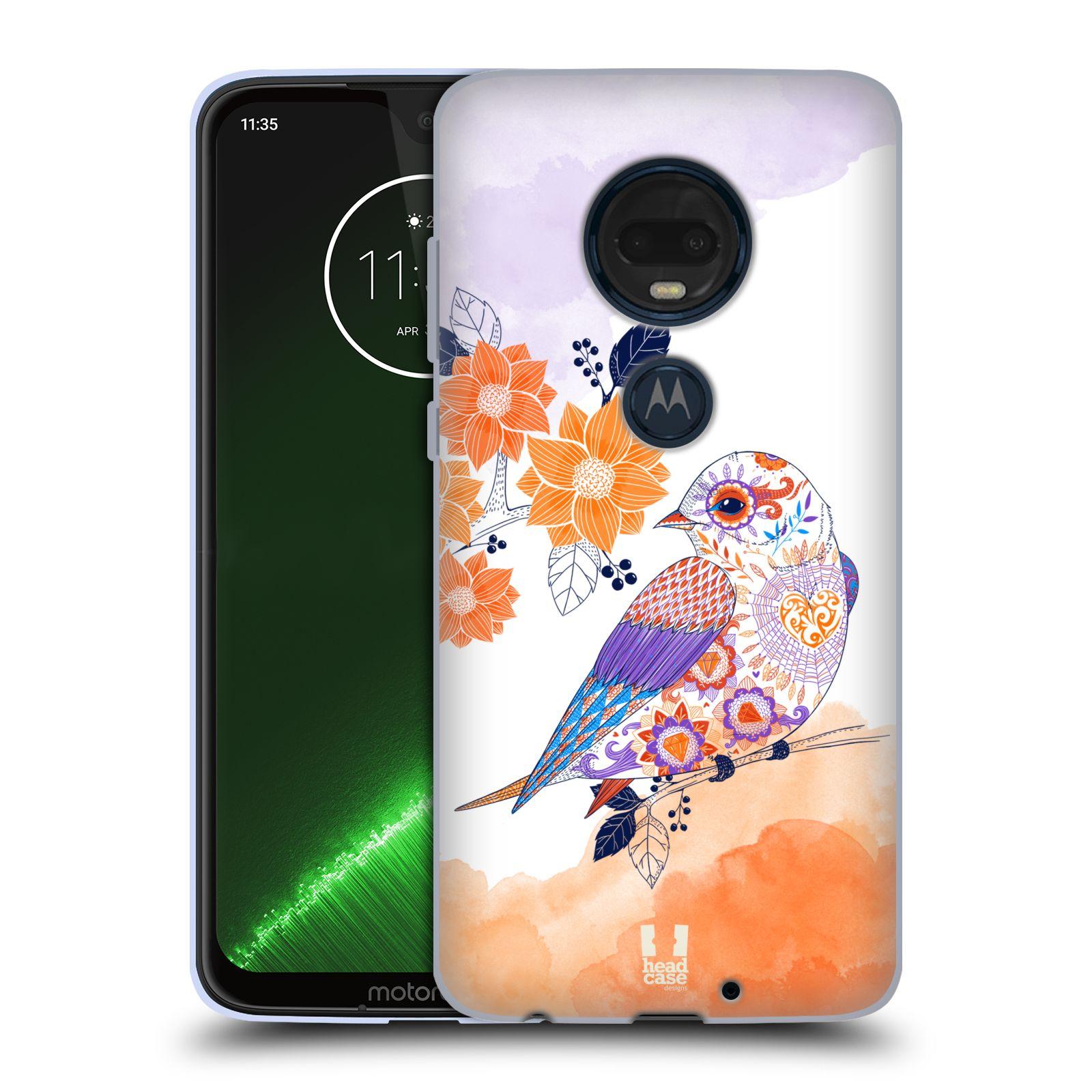 Silikonové pouzdro na mobil Motorola Moto G7 Plus - Head Case - PTÁČEK TANGERINE