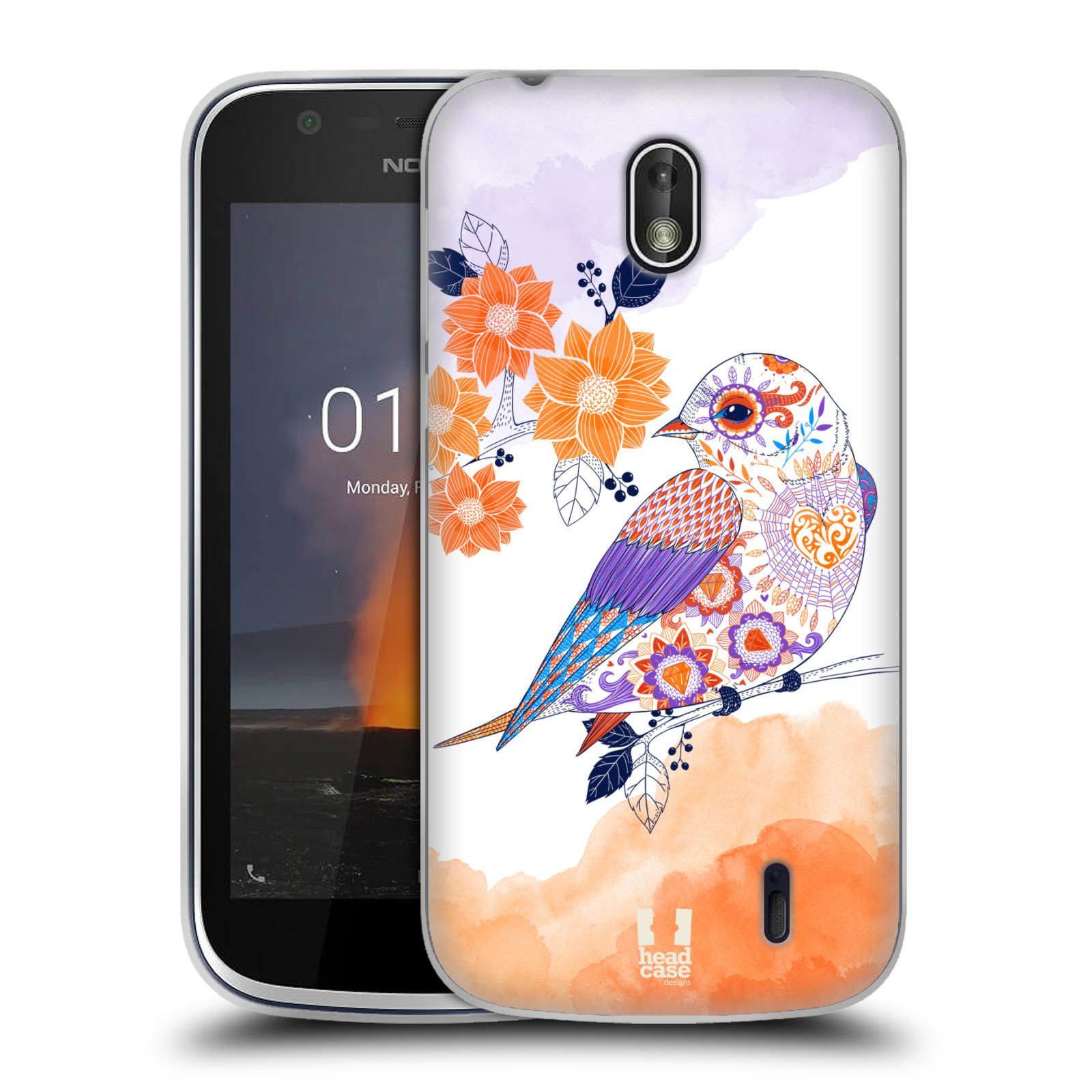 Silikonové pouzdro na mobil Nokia 1 - Head Case - PTÁČEK TANGERINE