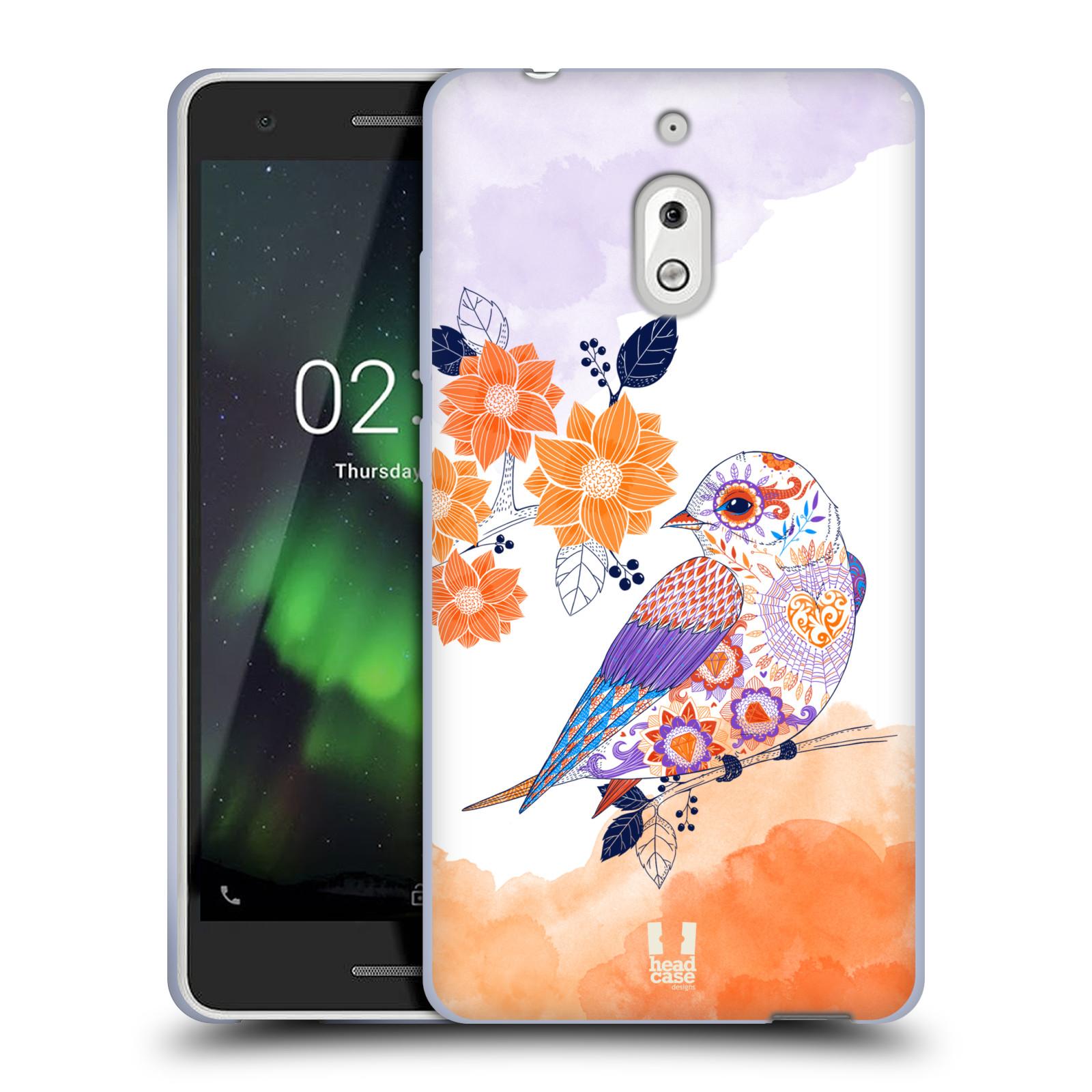 Silikonové pouzdro na mobil Nokia 2.1 - Head Case - PTÁČEK TANGERINE