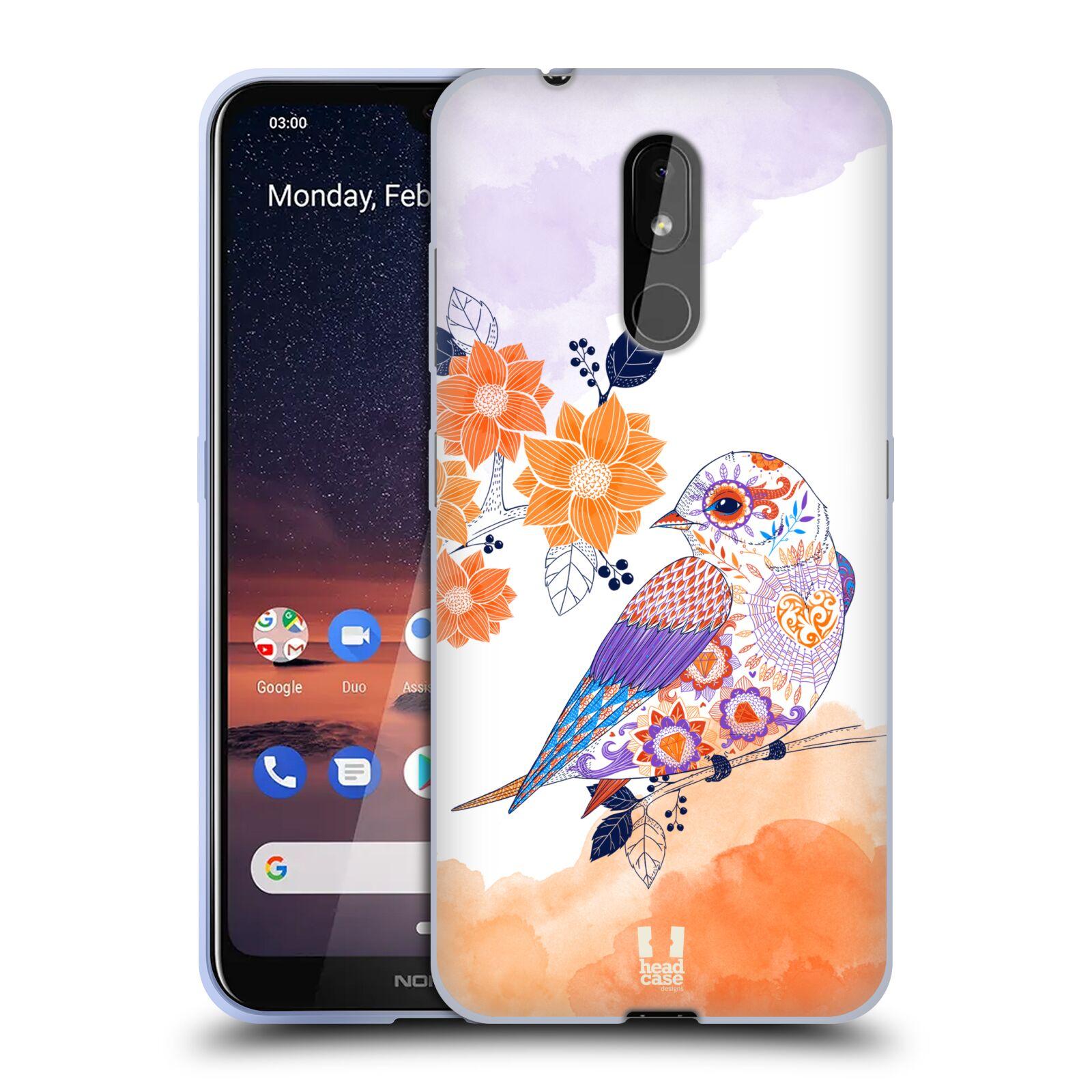 Silikonové pouzdro na mobil Nokia 3.2 - Head Case - PTÁČEK TANGERINE