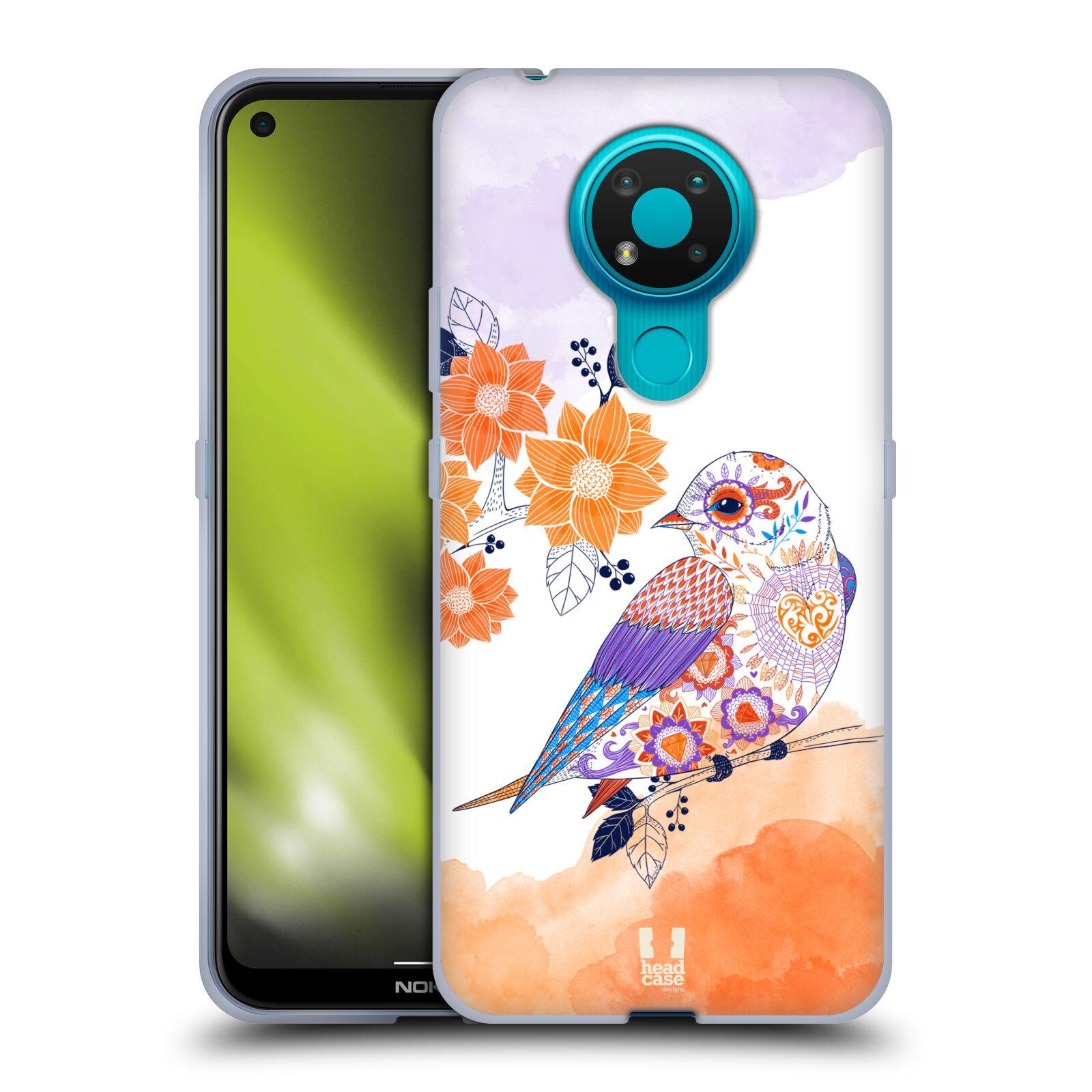 Silikonové pouzdro na mobil Nokia 3.4 - Head Case - PTÁČEK TANGERINE