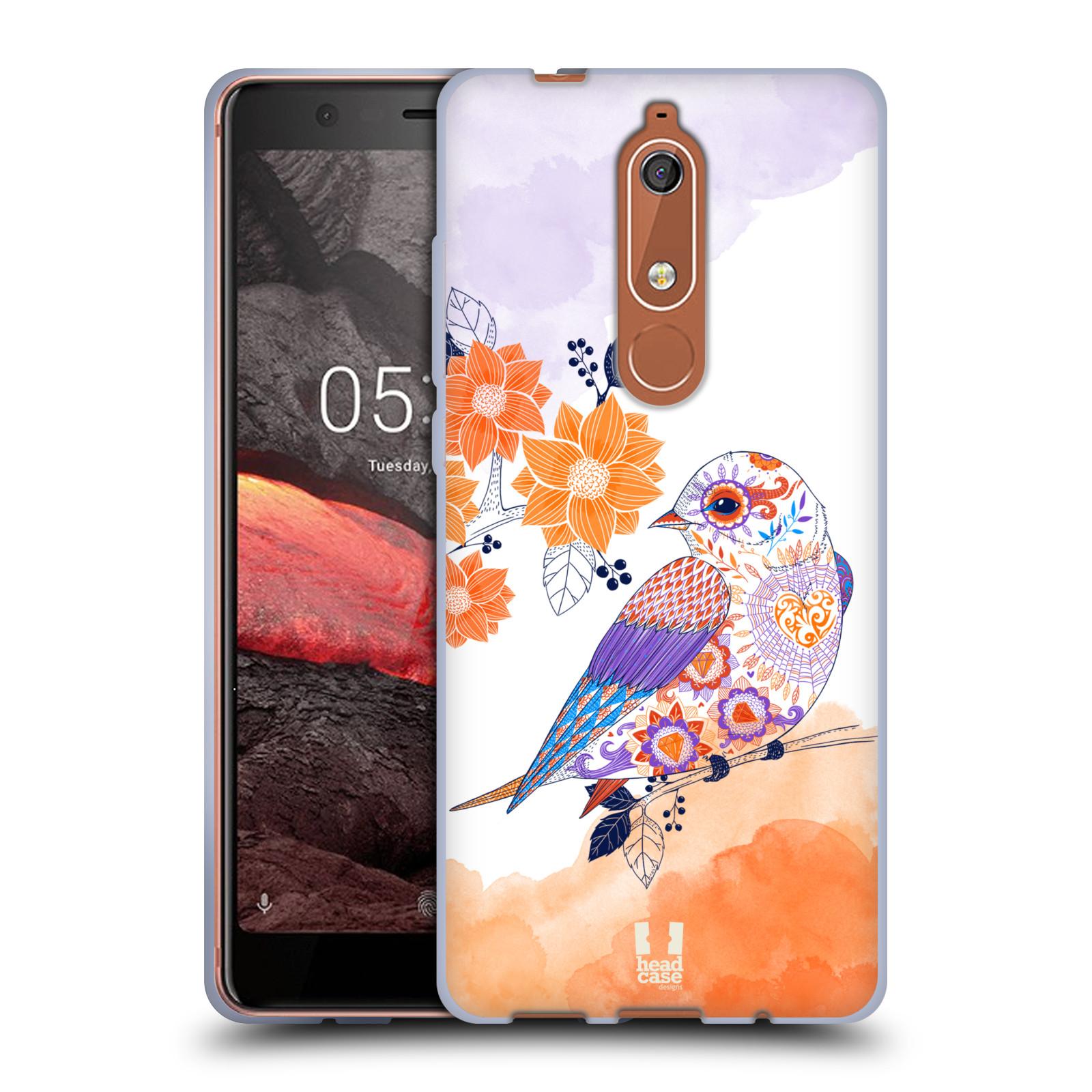 Silikonové pouzdro na mobil Nokia 5.1 - Head Case - PTÁČEK TANGERINE