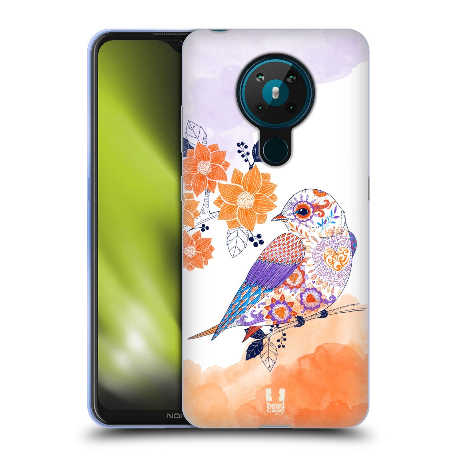 Silikonové pouzdro na mobil Nokia 5.3 - Head Case - PTÁČEK TANGERINE