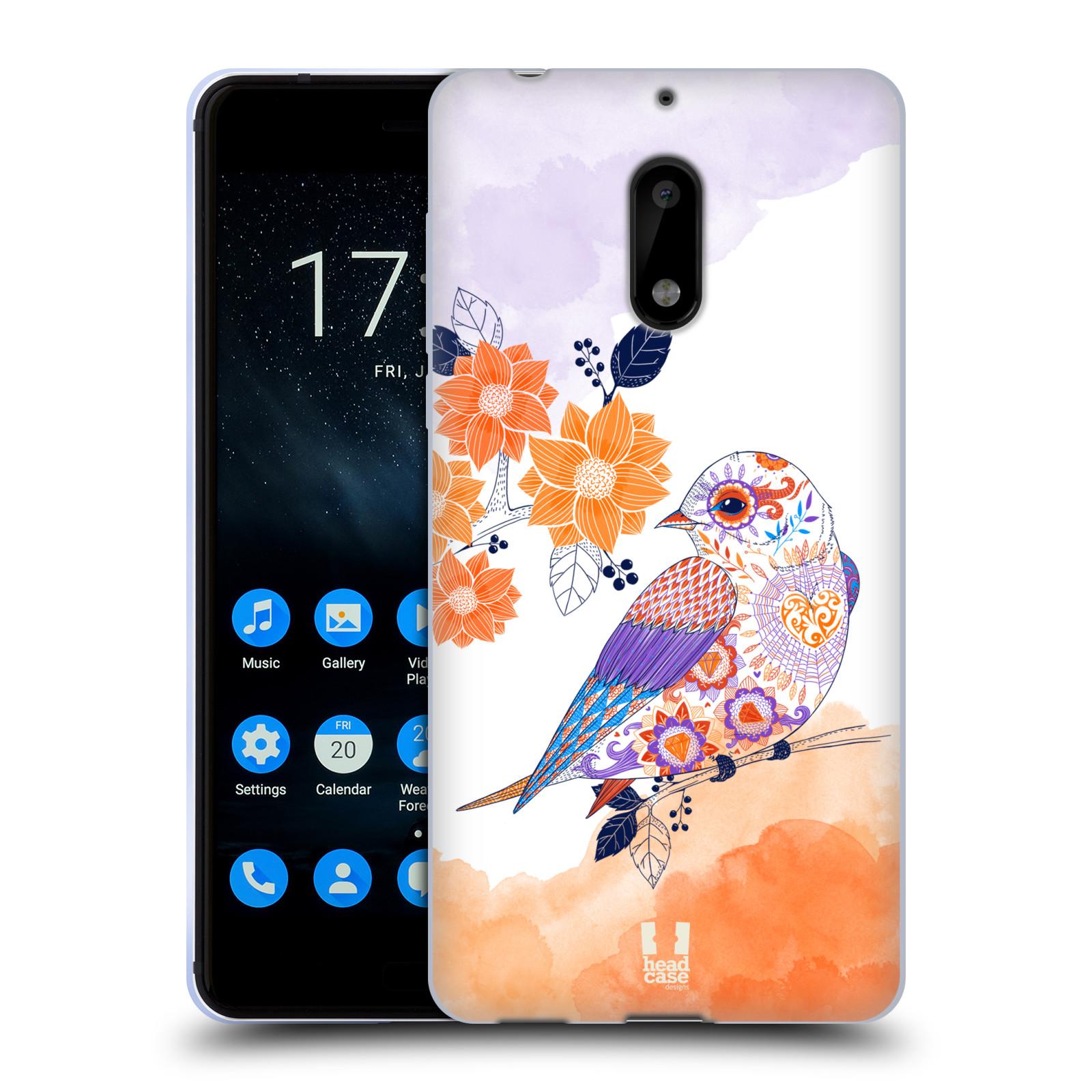 Silikonové pouzdro na mobil Nokia 6 - Head Case - PTÁČEK TANGERINE