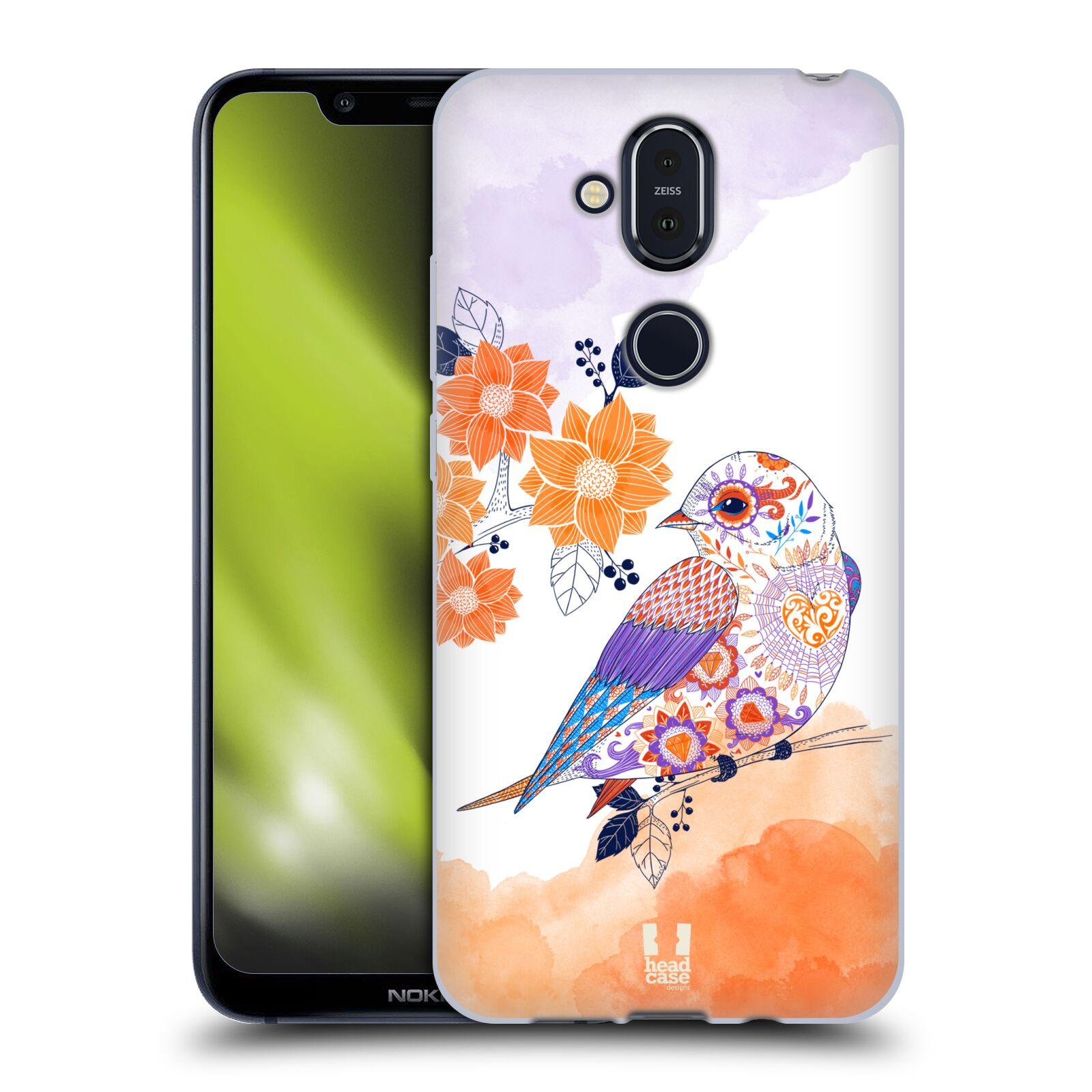 Silikonové pouzdro na mobil Nokia 8.1 - Head Case - PTÁČEK TANGERINE