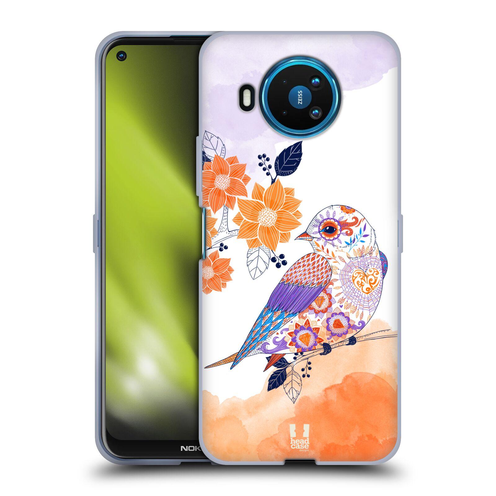 Silikonové pouzdro na mobil Nokia 8.3 5G - Head Case - PTÁČEK TANGERINE