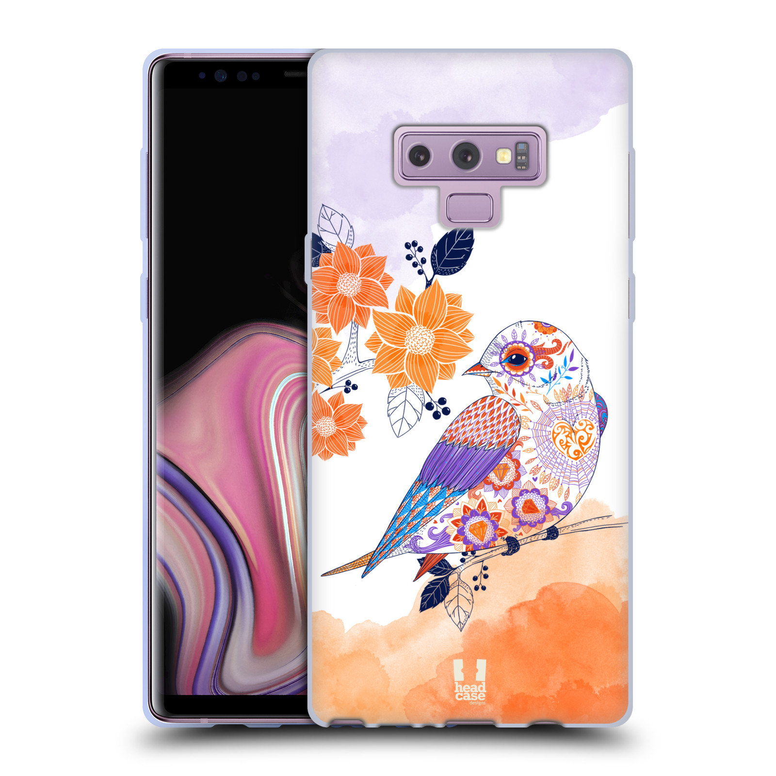 Silikonové pouzdro na mobil Samsung Galaxy Note 9 - Head Case - PTÁČEK TANGERINE