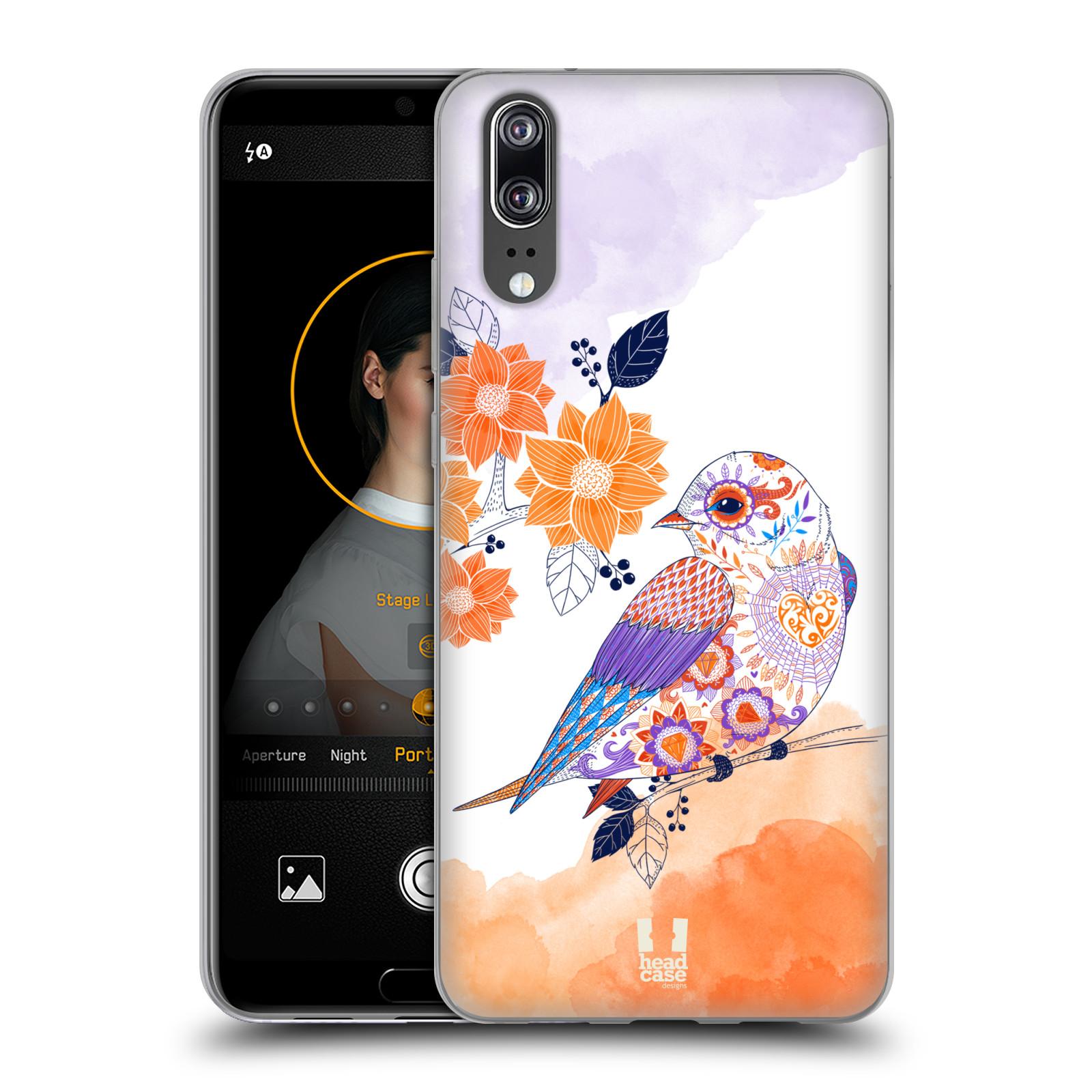 Silikonové pouzdro na mobil Huawei P20 - Head Case - PTÁČEK TANGERINE