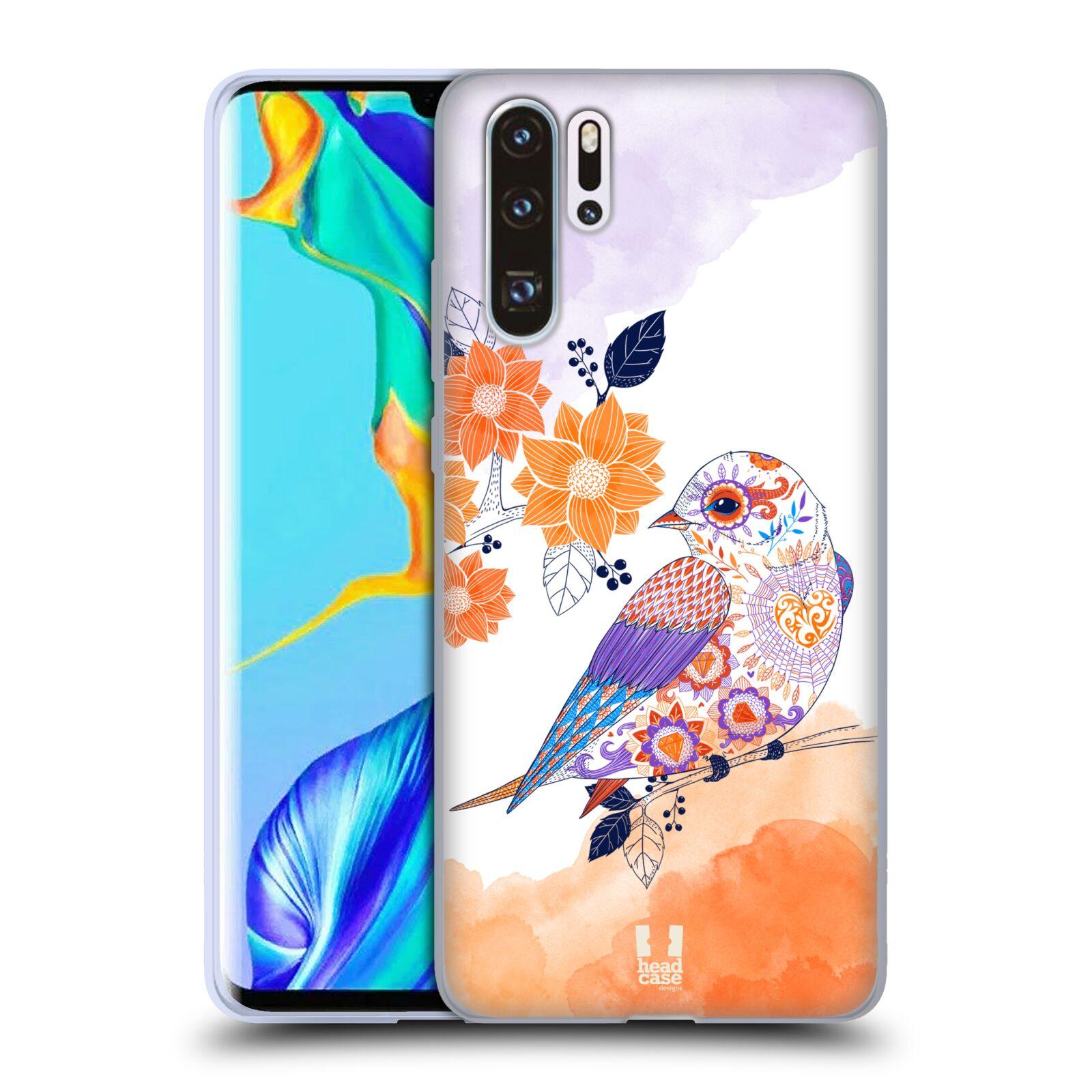 Silikonové pouzdro na mobil Huawei P30 Pro - Head Case - PTÁČEK TANGERINE