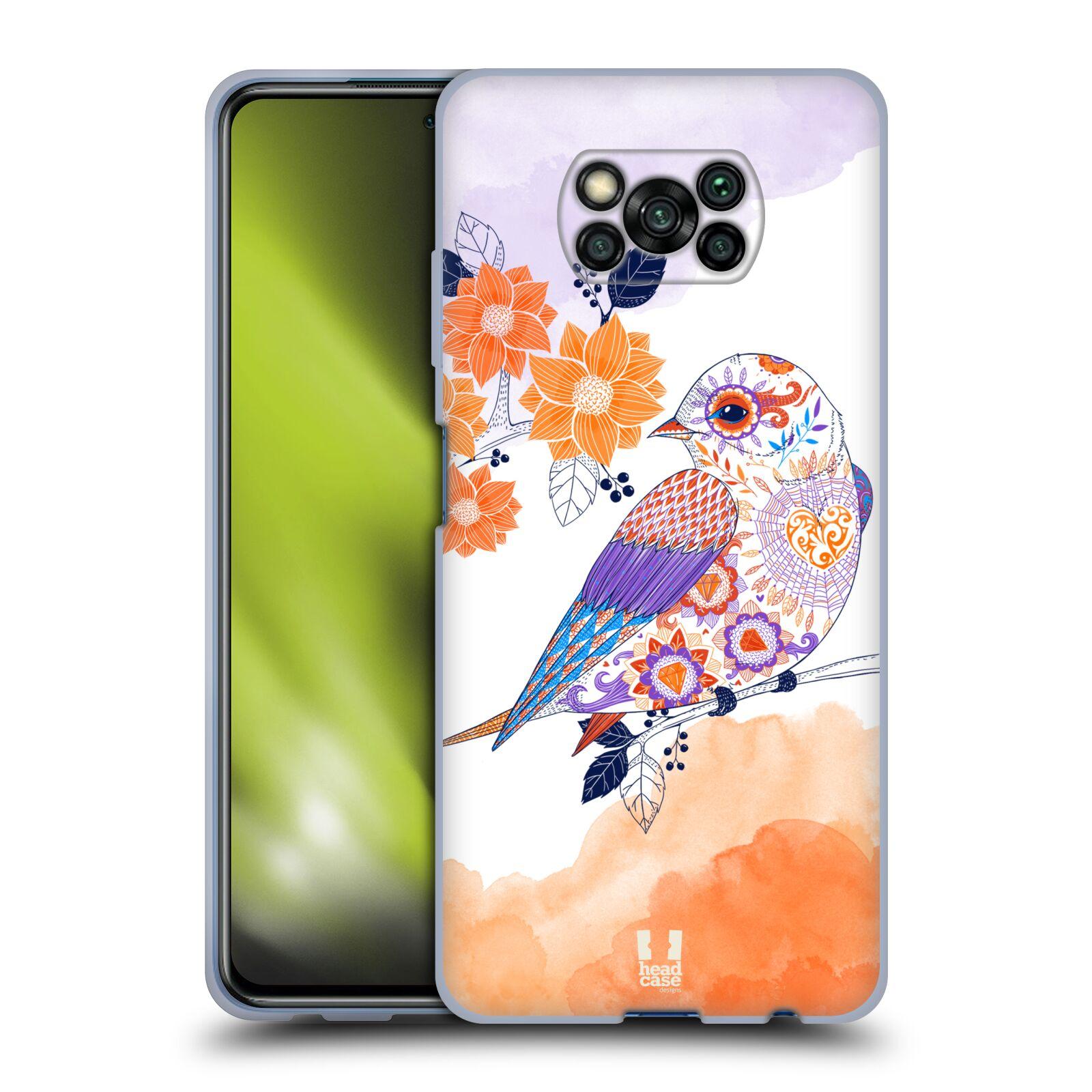 Silikonové pouzdro na mobil Xiaomi Poco X3 NFC - Head Case - PTÁČEK TANGERINE