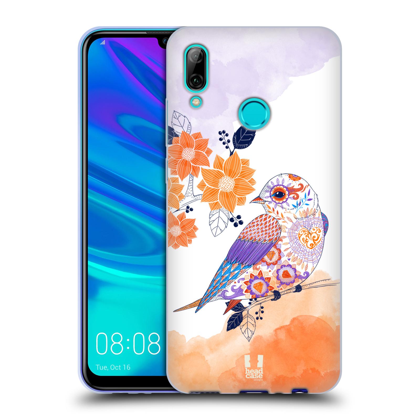 Silikonové pouzdro na mobil Huawei P Smart (2019) - Head Case - PTÁČEK TANGERINE
