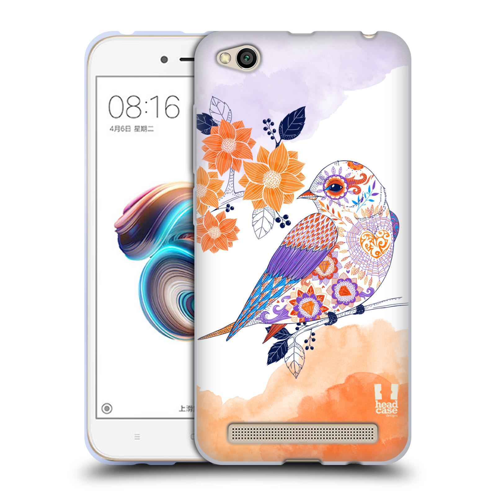 Silikonové pouzdro na mobil Xiaomi Redmi 5A - Head Case - PTÁČEK TANGERINE