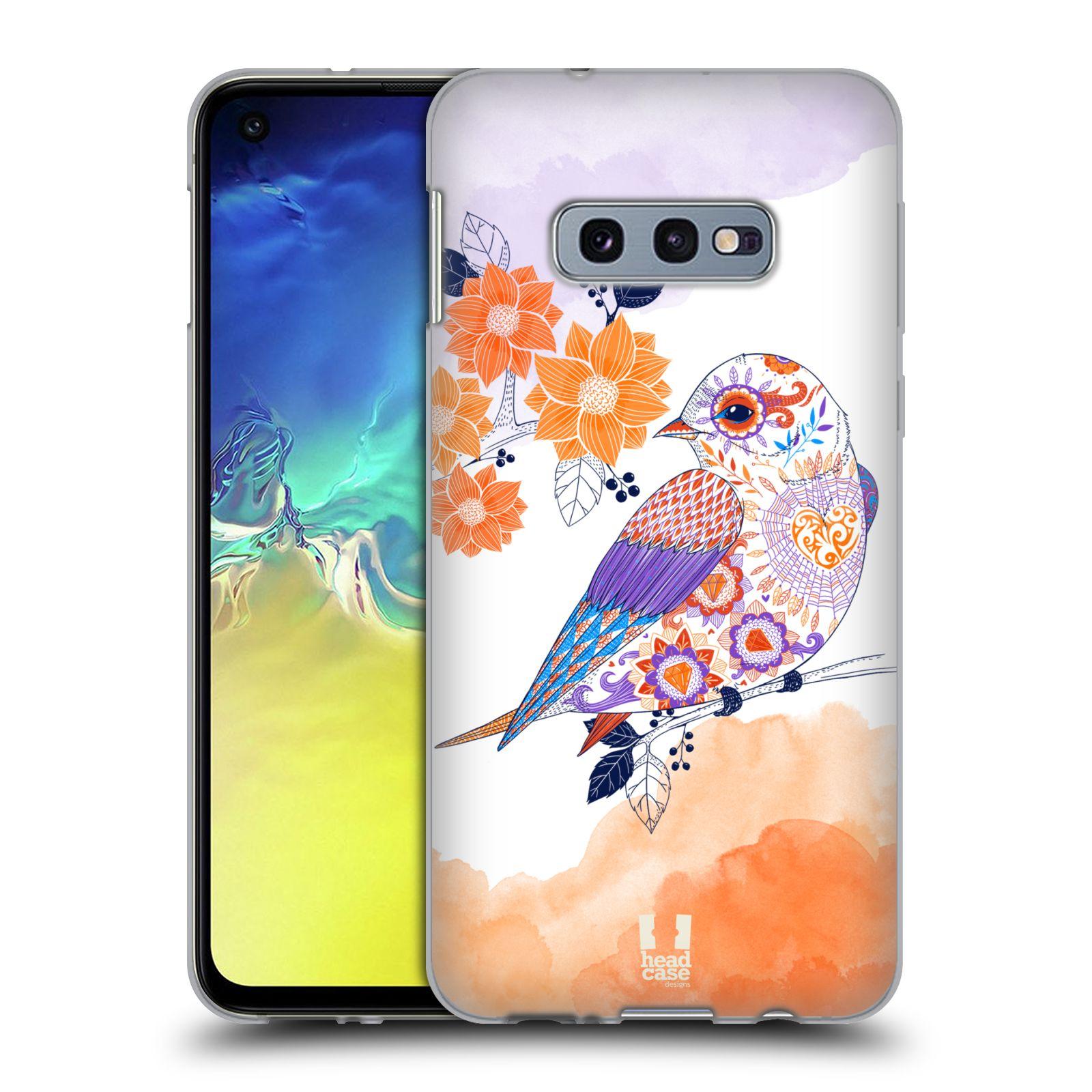Silikonové pouzdro na mobil Samsung Galaxy S10e - Head Case - PTÁČEK TANGERINE